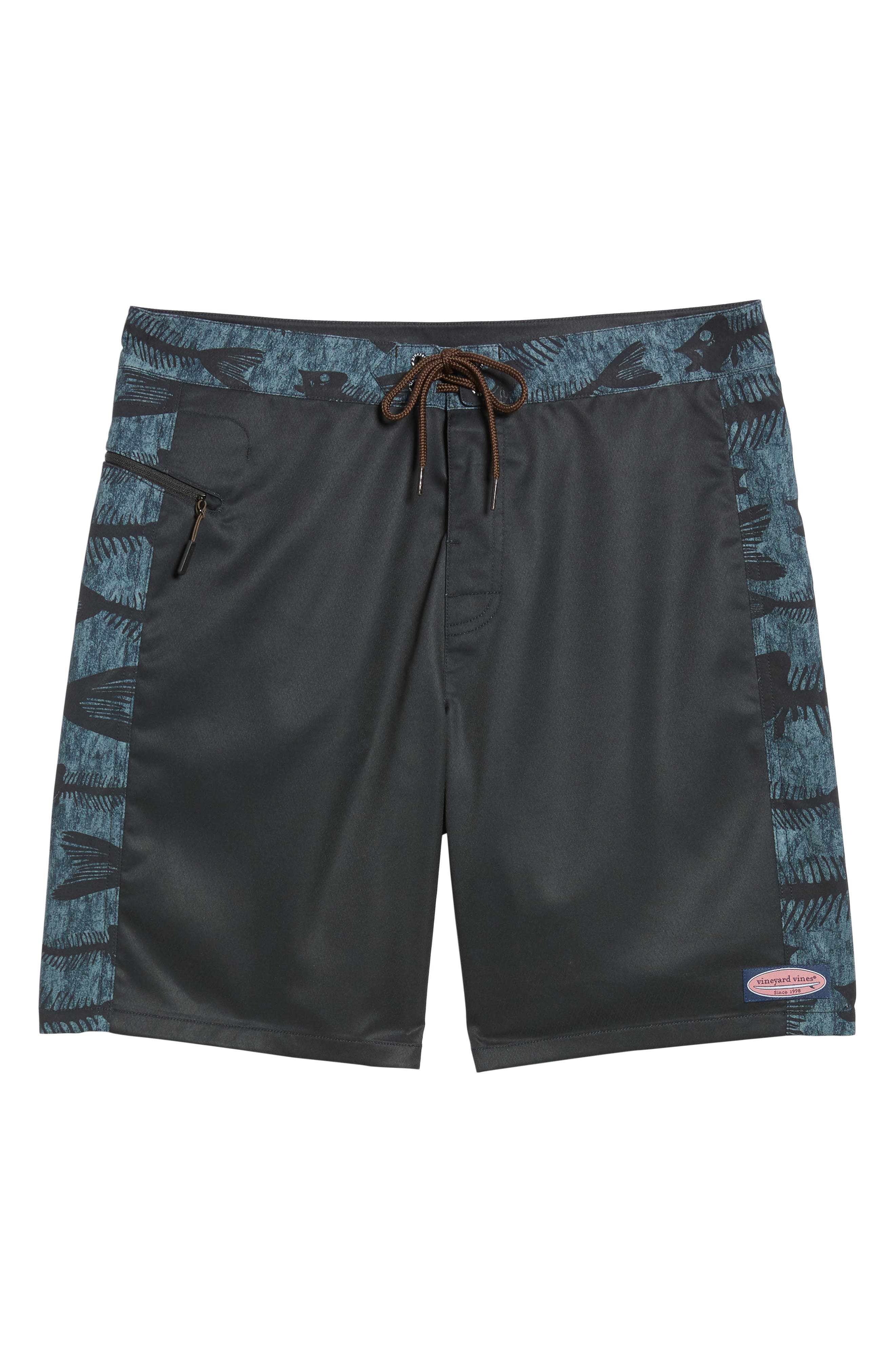 Bonefish Board Shorts,                             Alternate thumbnail 6, color,                             Charcoal Grey