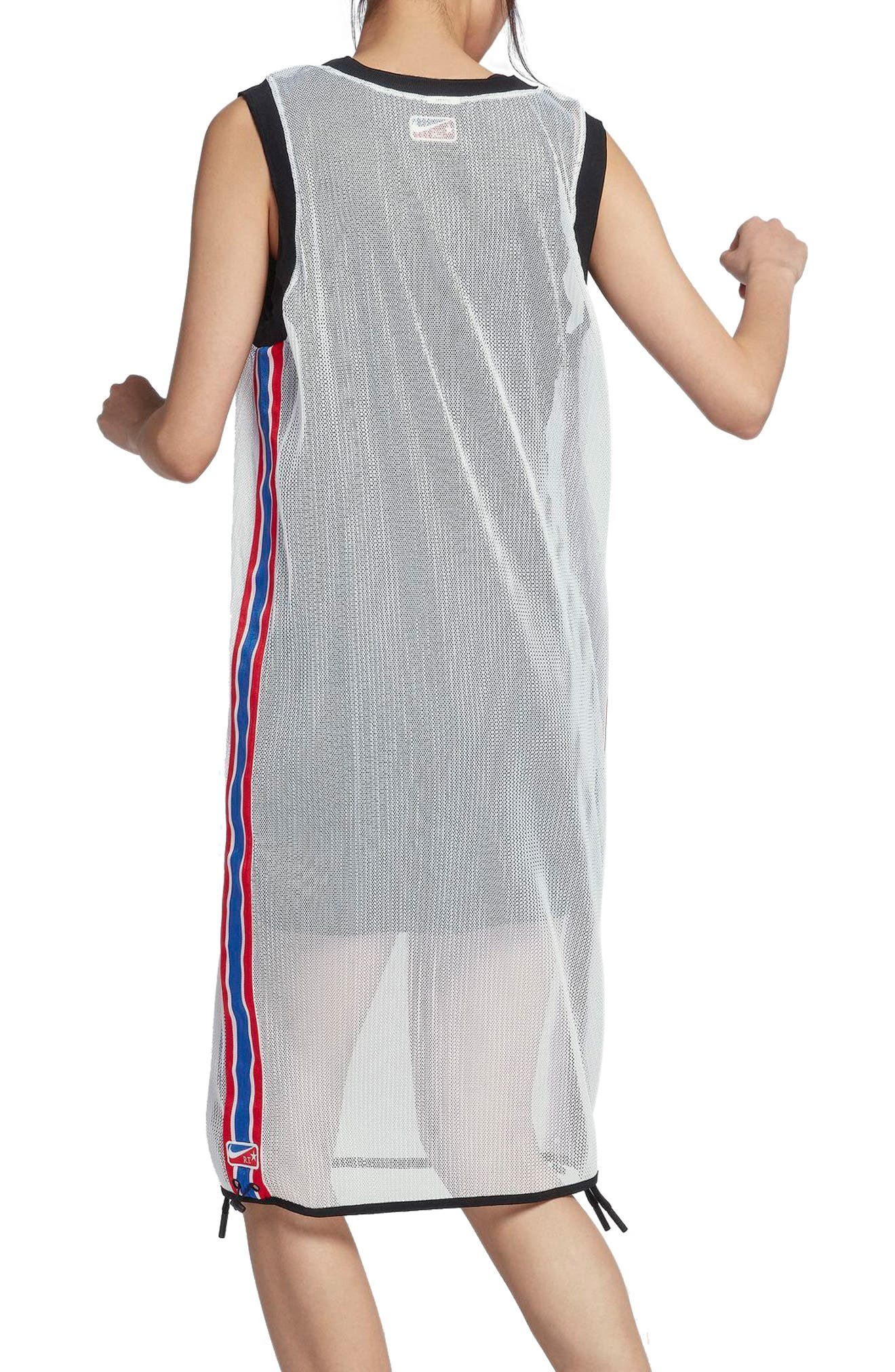 NikeLab x RT Mesh Jersey Dress,                             Alternate thumbnail 2, color,                             White