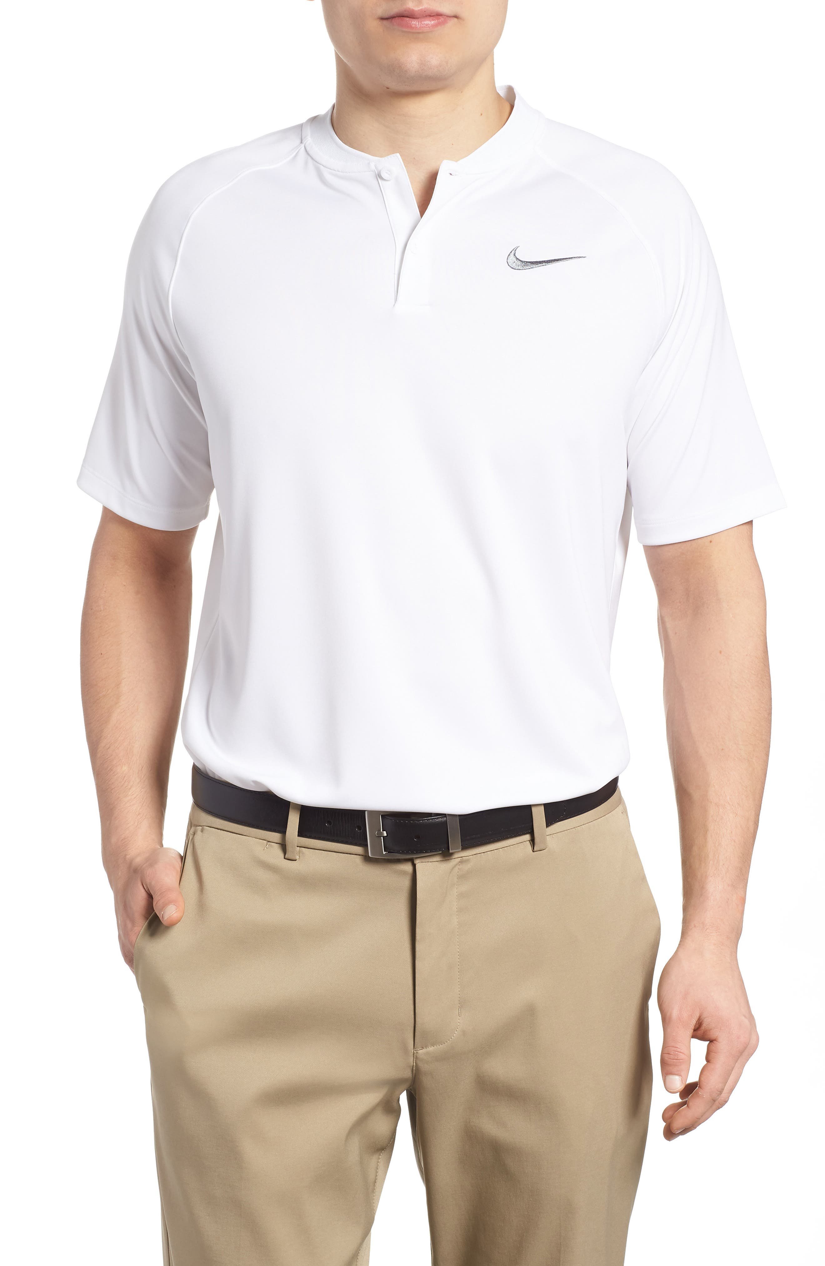 Dry Momentum Golf Polo,                         Main,                         color, White/ White/ Black