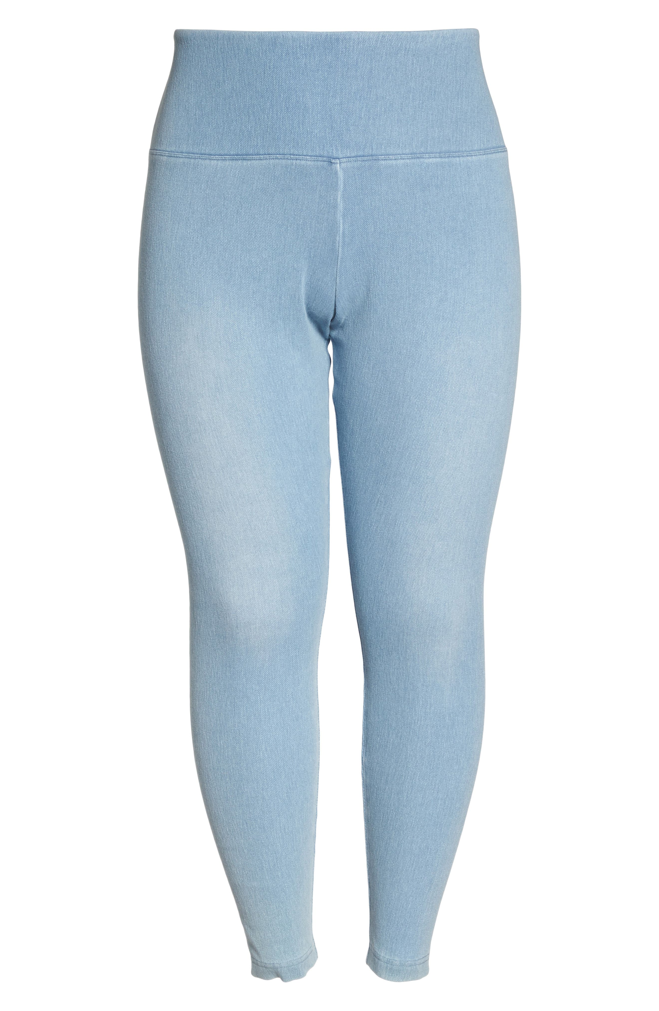 Stretch Denim Leggings,                             Alternate thumbnail 6, color,                             Cashmere Blue