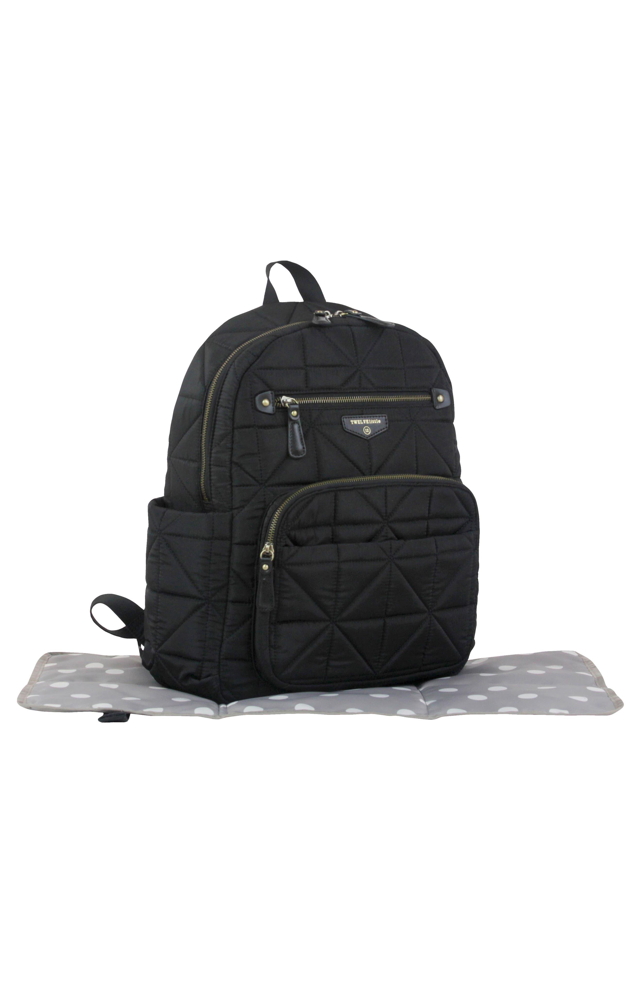Alternate Image 2  - TWELVElittle Quilted Water Resistant Nylon Diaper Backpack