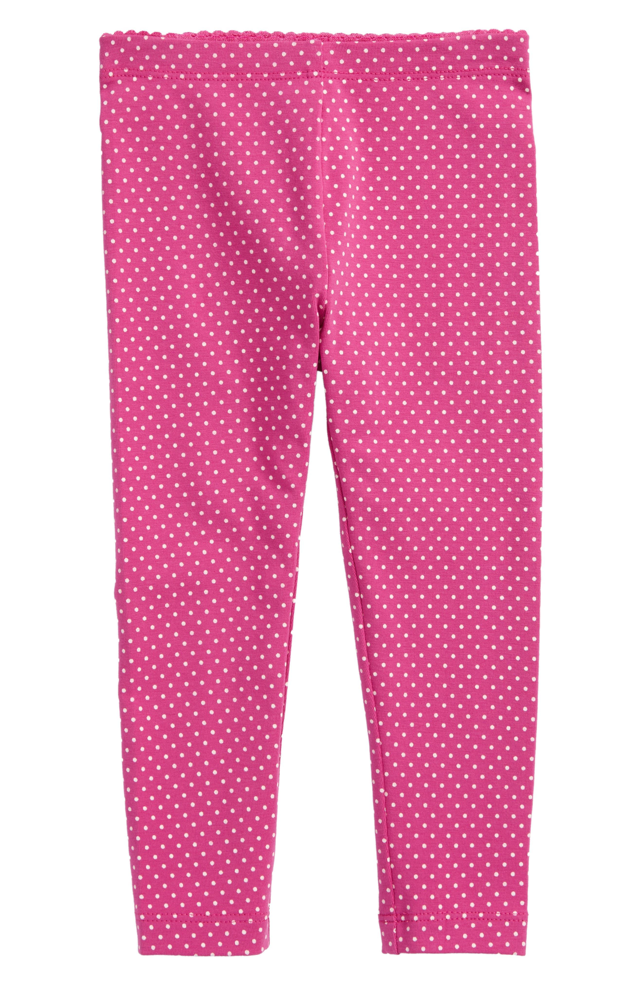 Main Image - Tea Collection Pin Dot Leggings (Baby Girls)