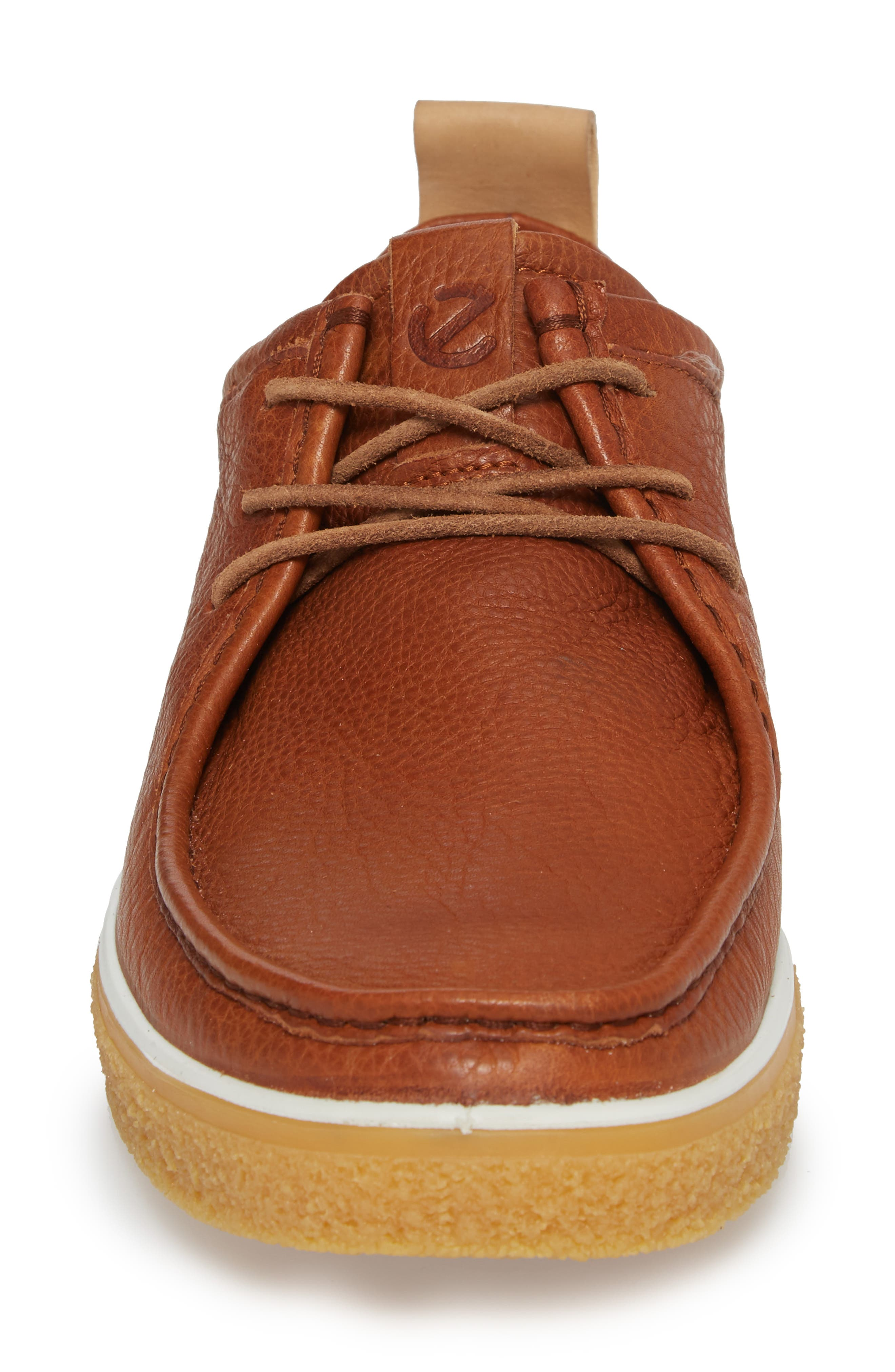 Crepetray Moc Toe Lace-Up,                             Alternate thumbnail 4, color,                             Lion Leather