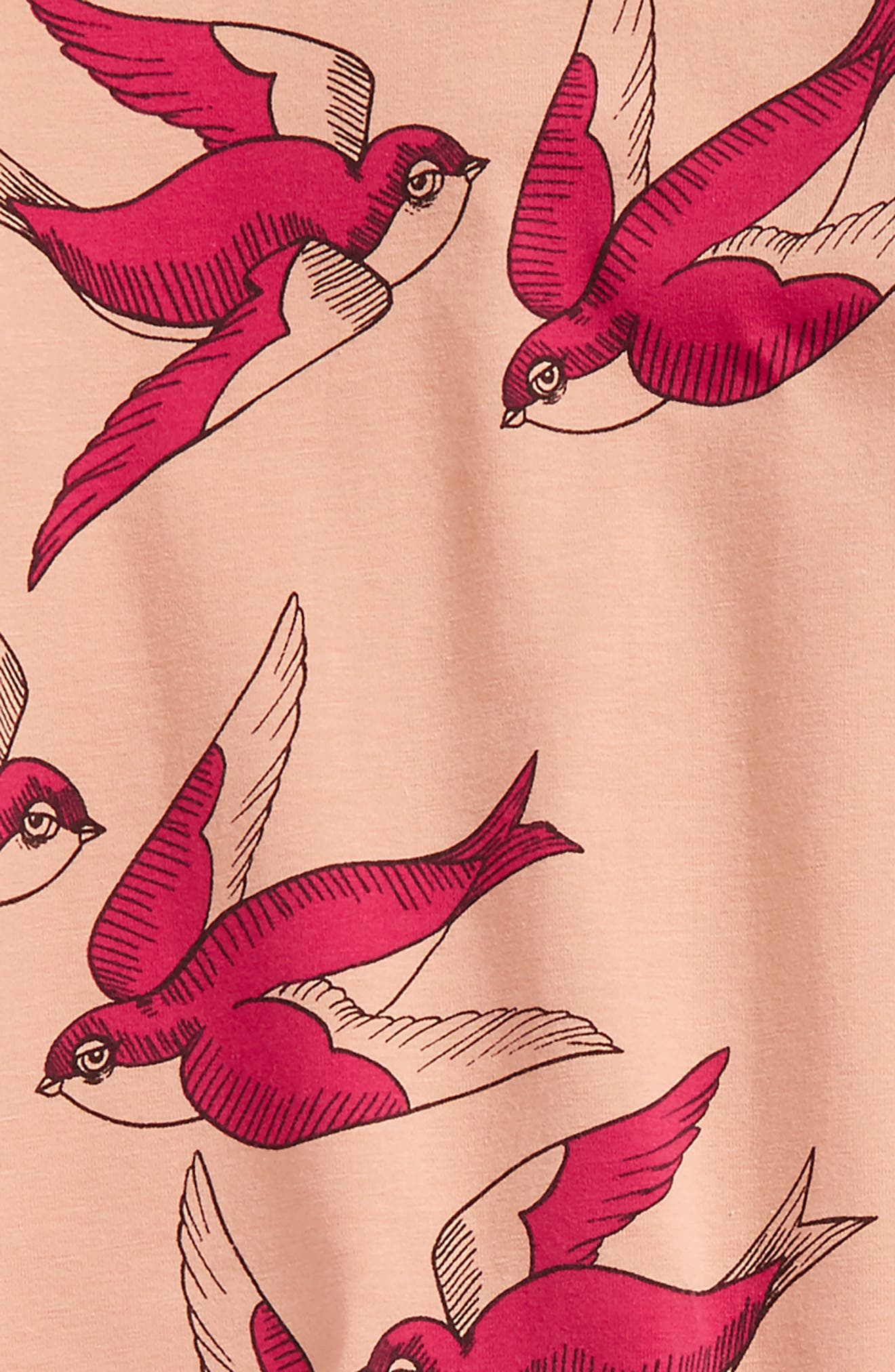 Swallows Romper,                             Alternate thumbnail 2, color,                             Pink