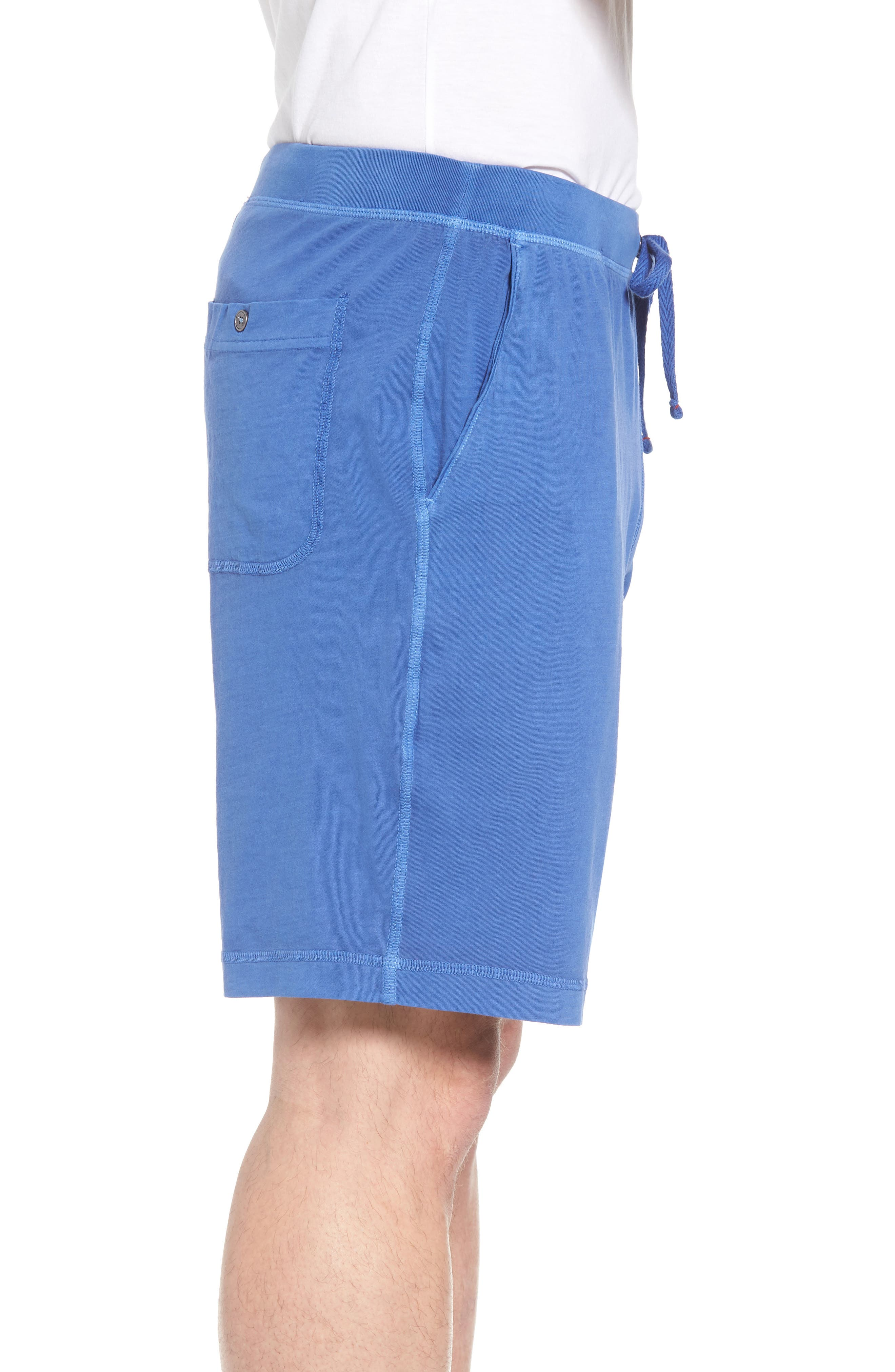 Peruvian Pima Cotton Lounge Shorts,                             Alternate thumbnail 3, color,                             Cobalt Blue