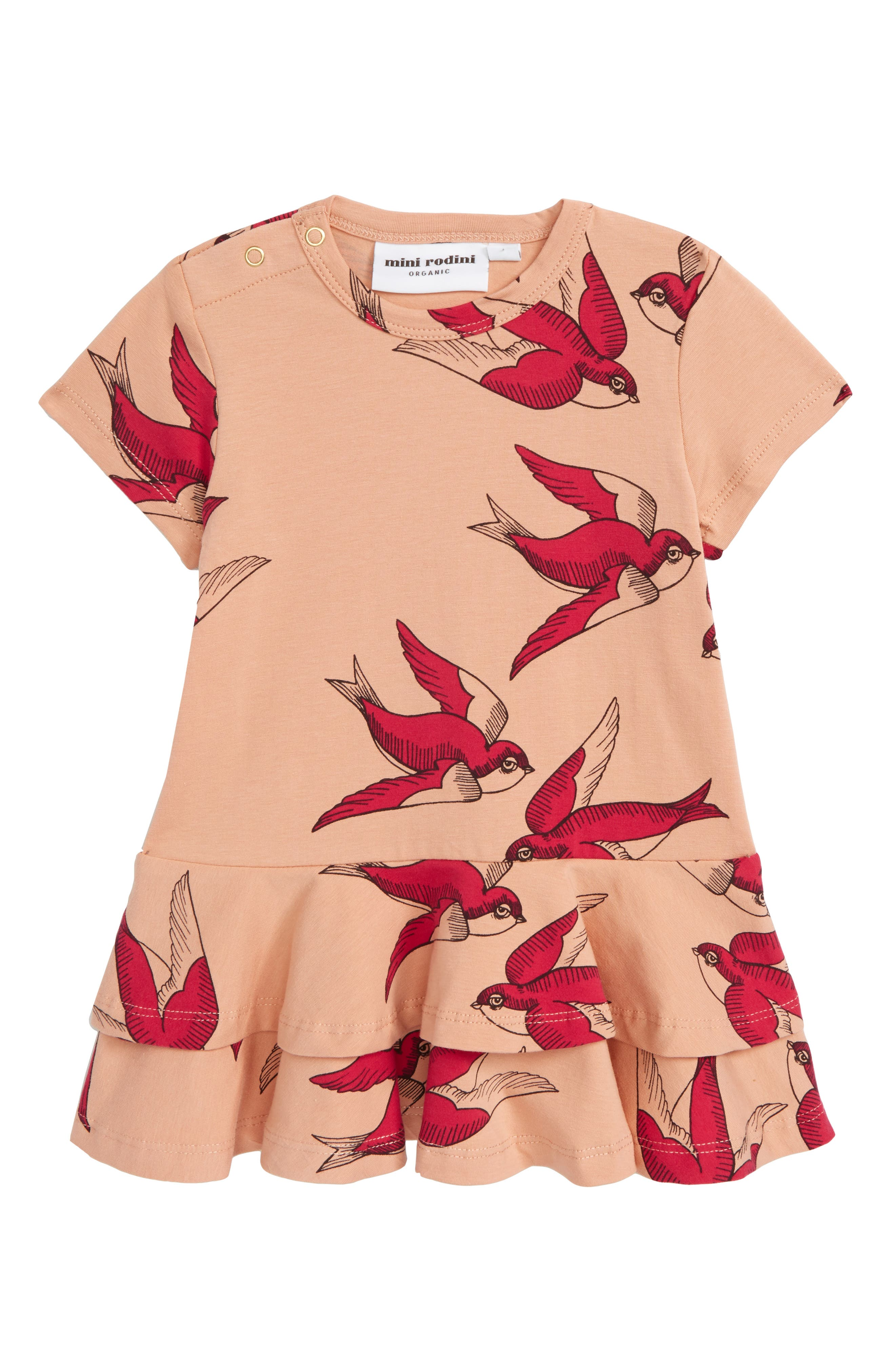 Mini Rodini Swallows Frill Dress (Baby Girls)