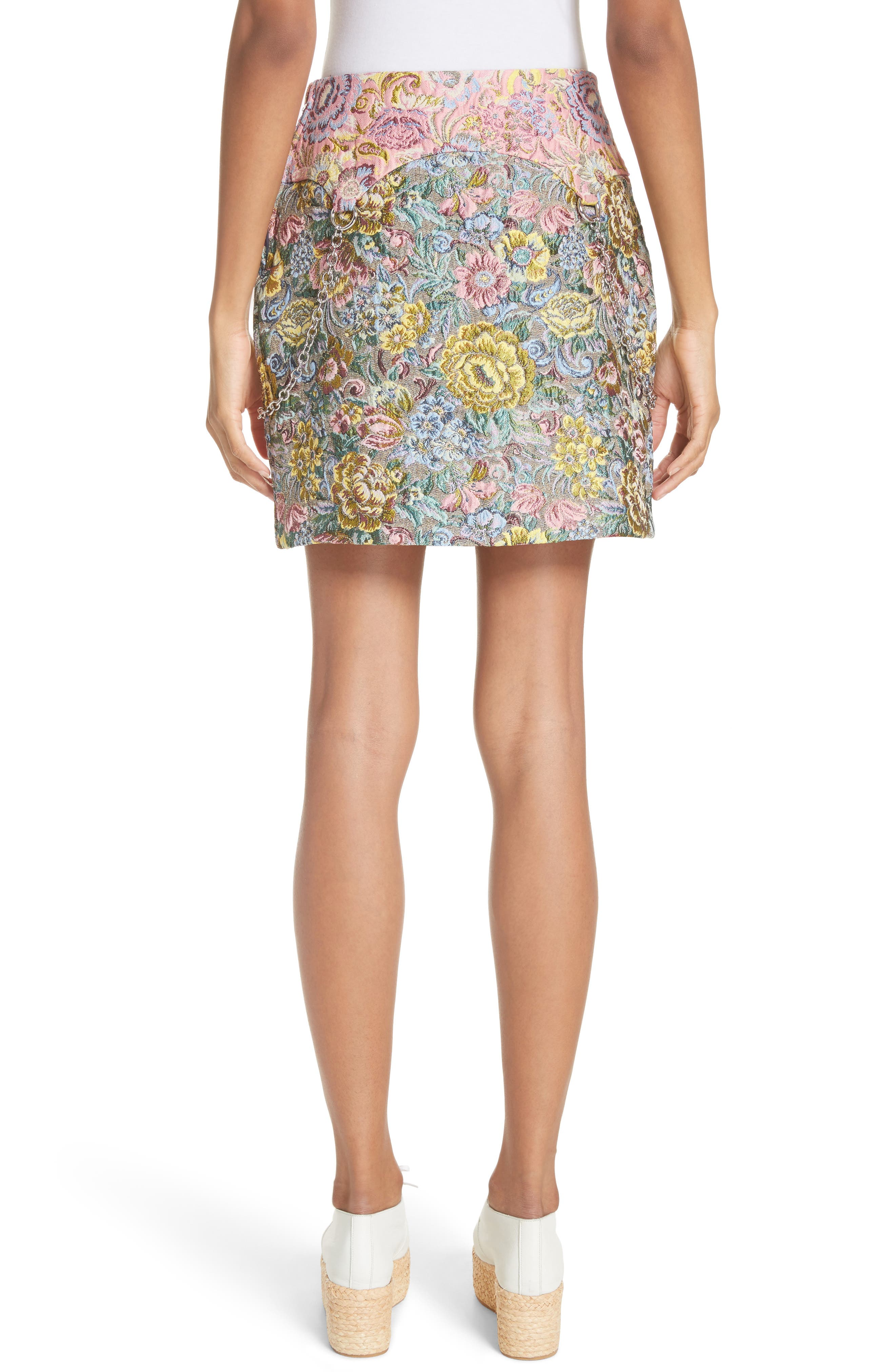 Chatham Brocade Miniskirt,                             Alternate thumbnail 2, color,                             Couch
