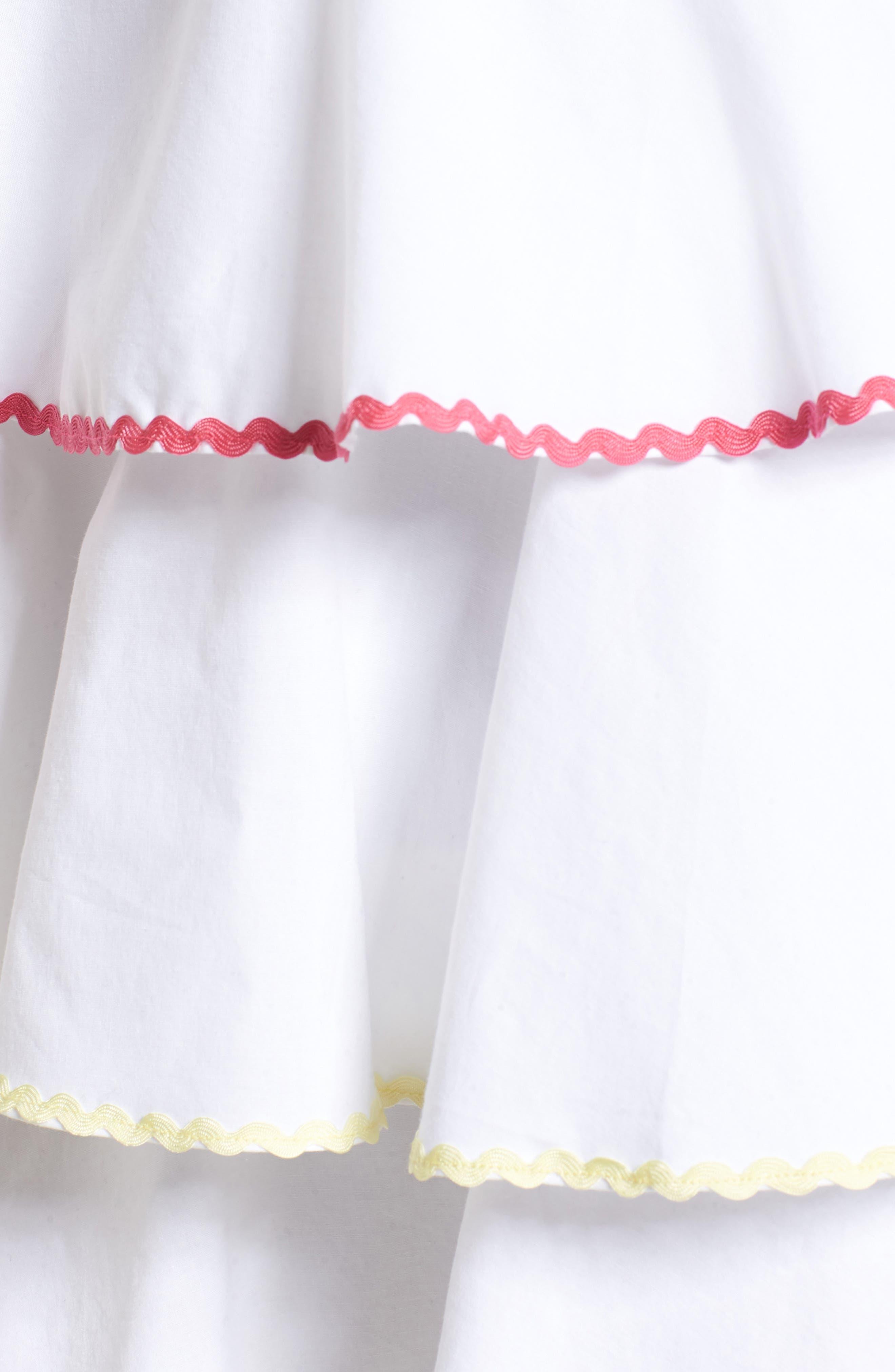 Trento Tiered Minidress,                             Alternate thumbnail 6, color,                             Ivory