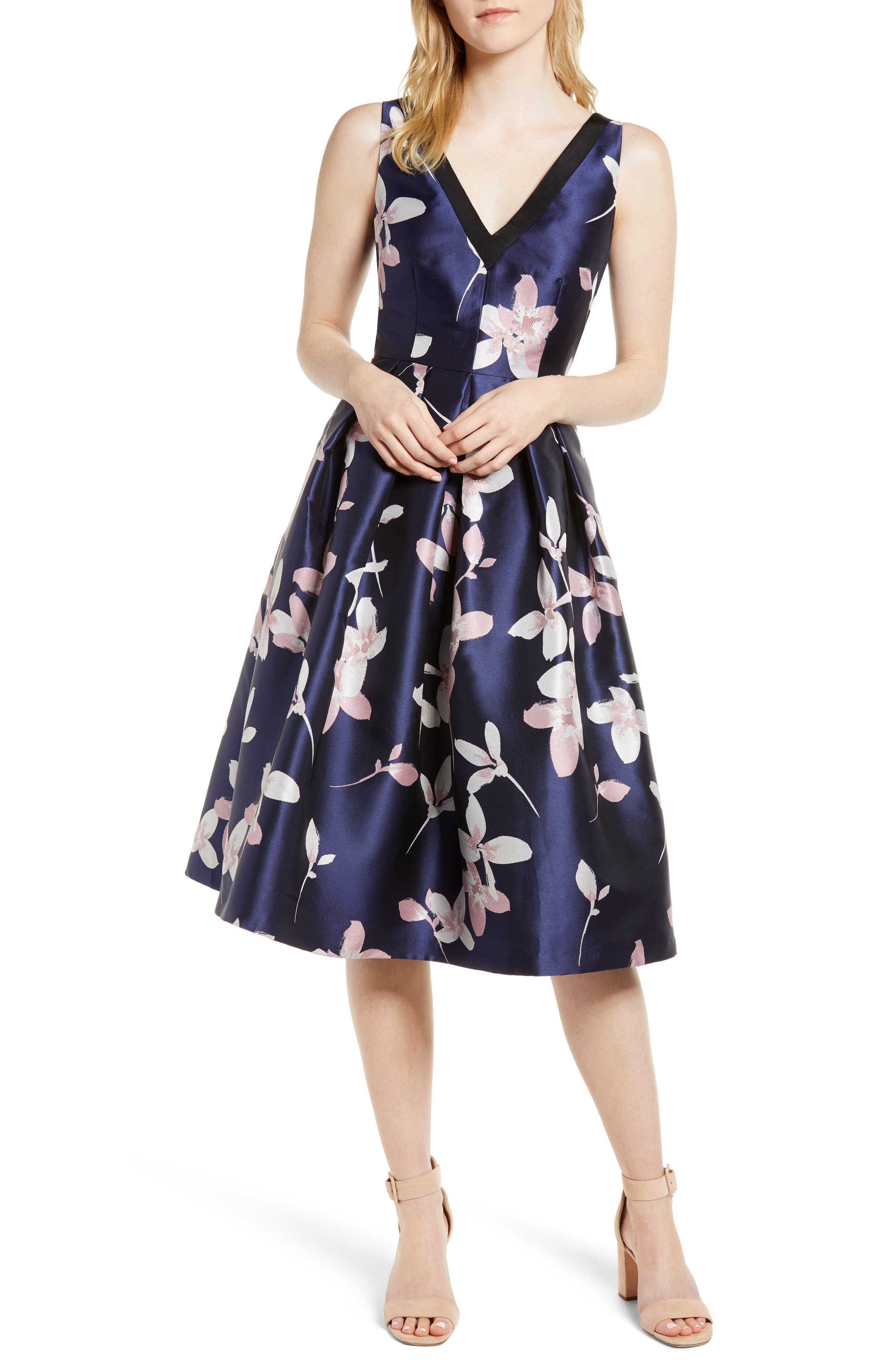 Floral Midi Cocktail Dress
