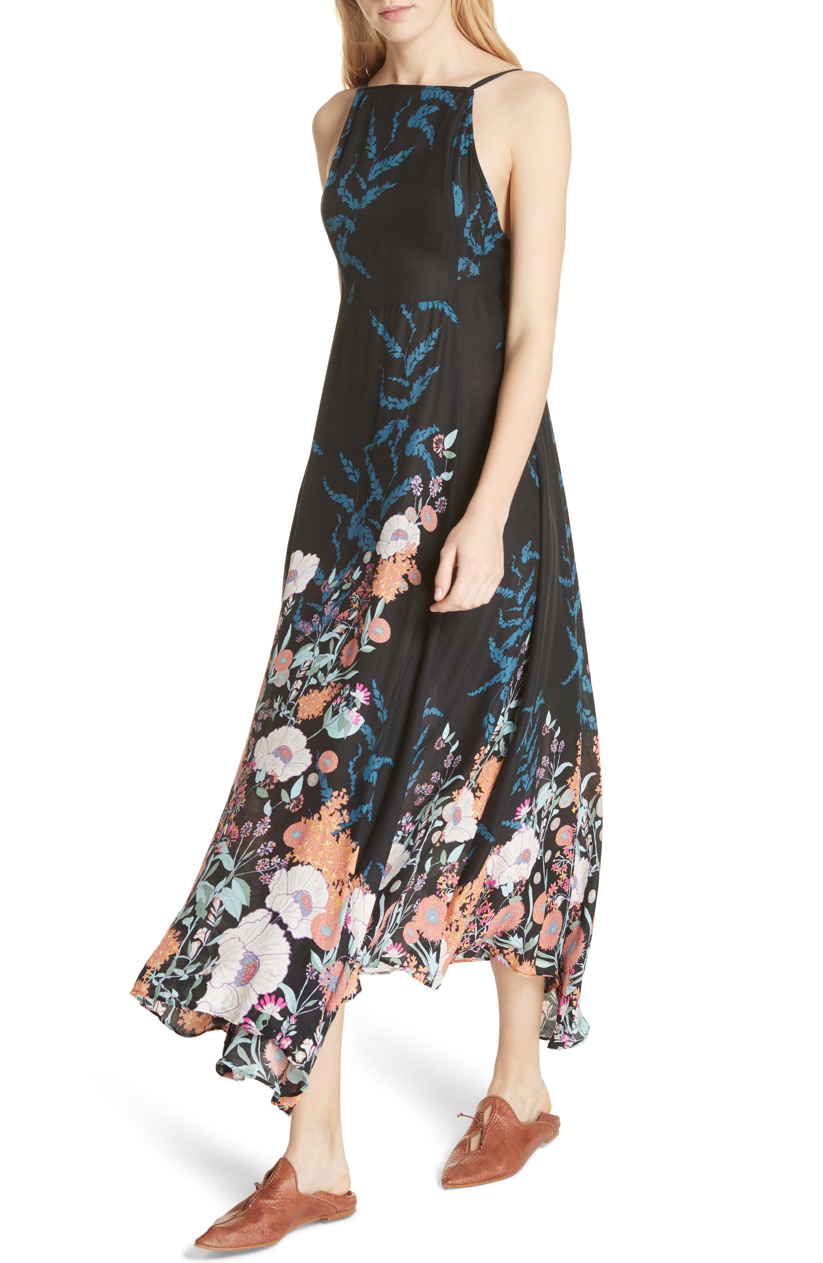 Embrace It Maxi Dress,                             Alternate thumbnail 4, color,                             Black Combo