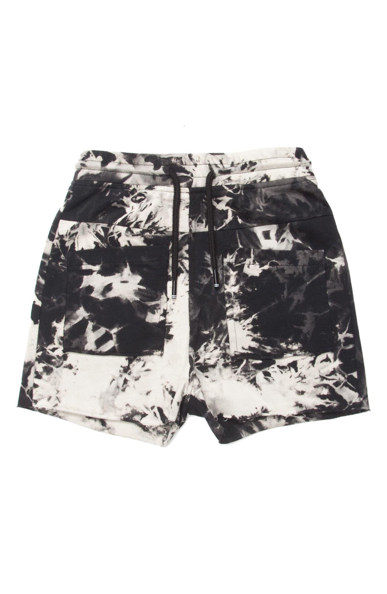 Reese Print Shorts,                             Main thumbnail 1, color,                             Black