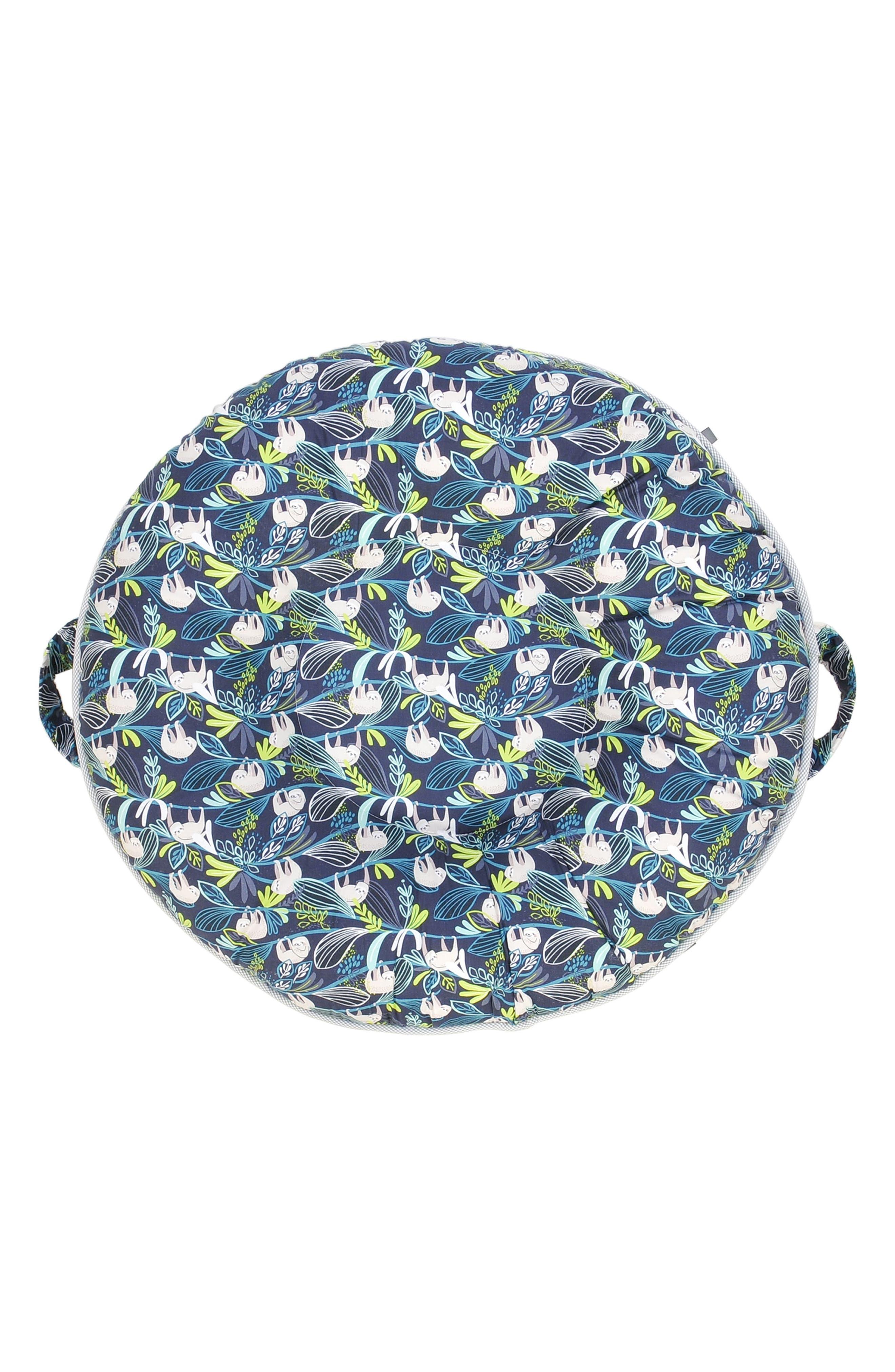 Sammy Luxe Portable Floor Pillow,                         Main,                         color, Blue/ Gray