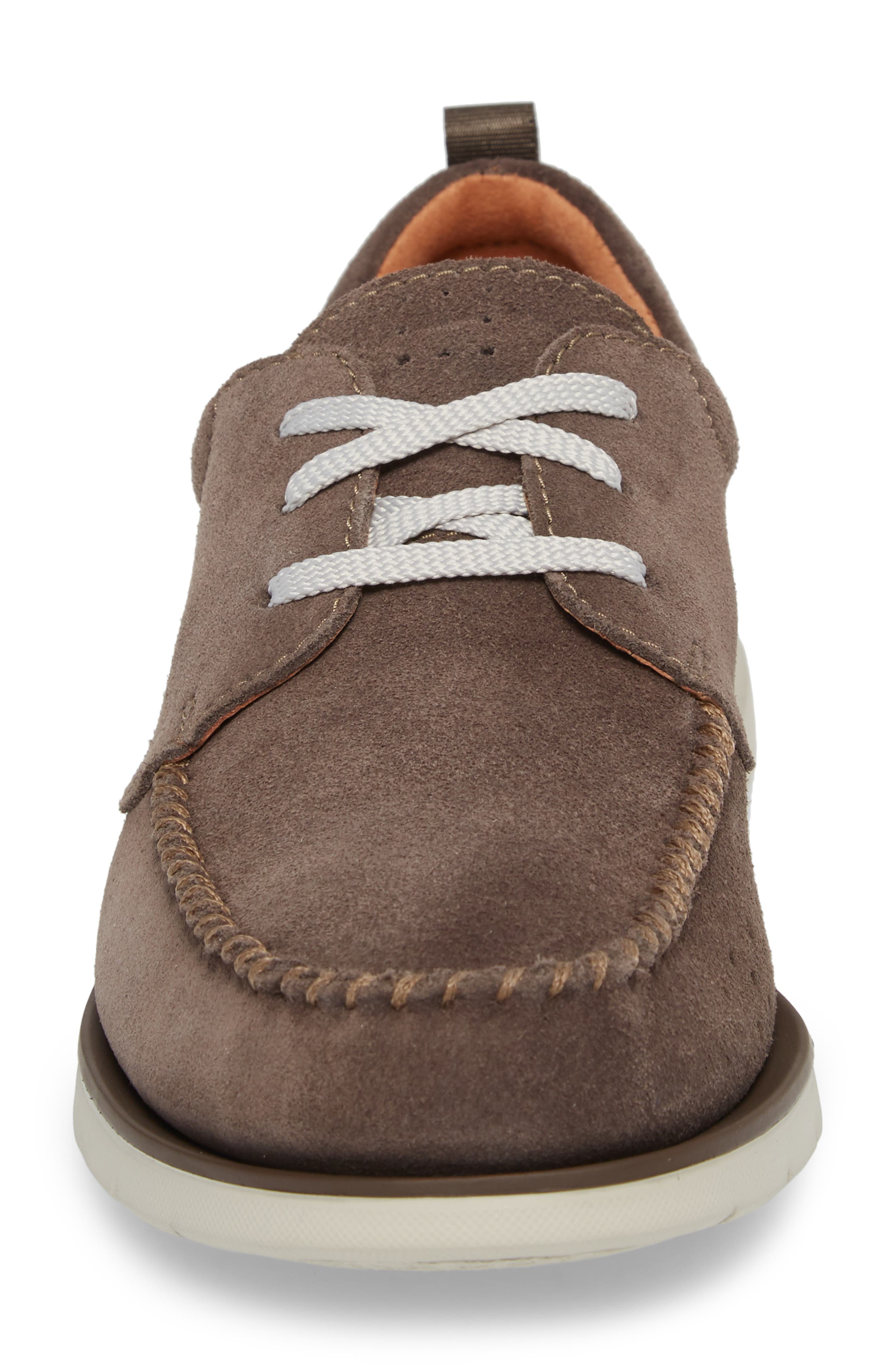 Edgewood Mix Moc Toe Derby,                             Alternate thumbnail 4, color,                             Taupe Suede