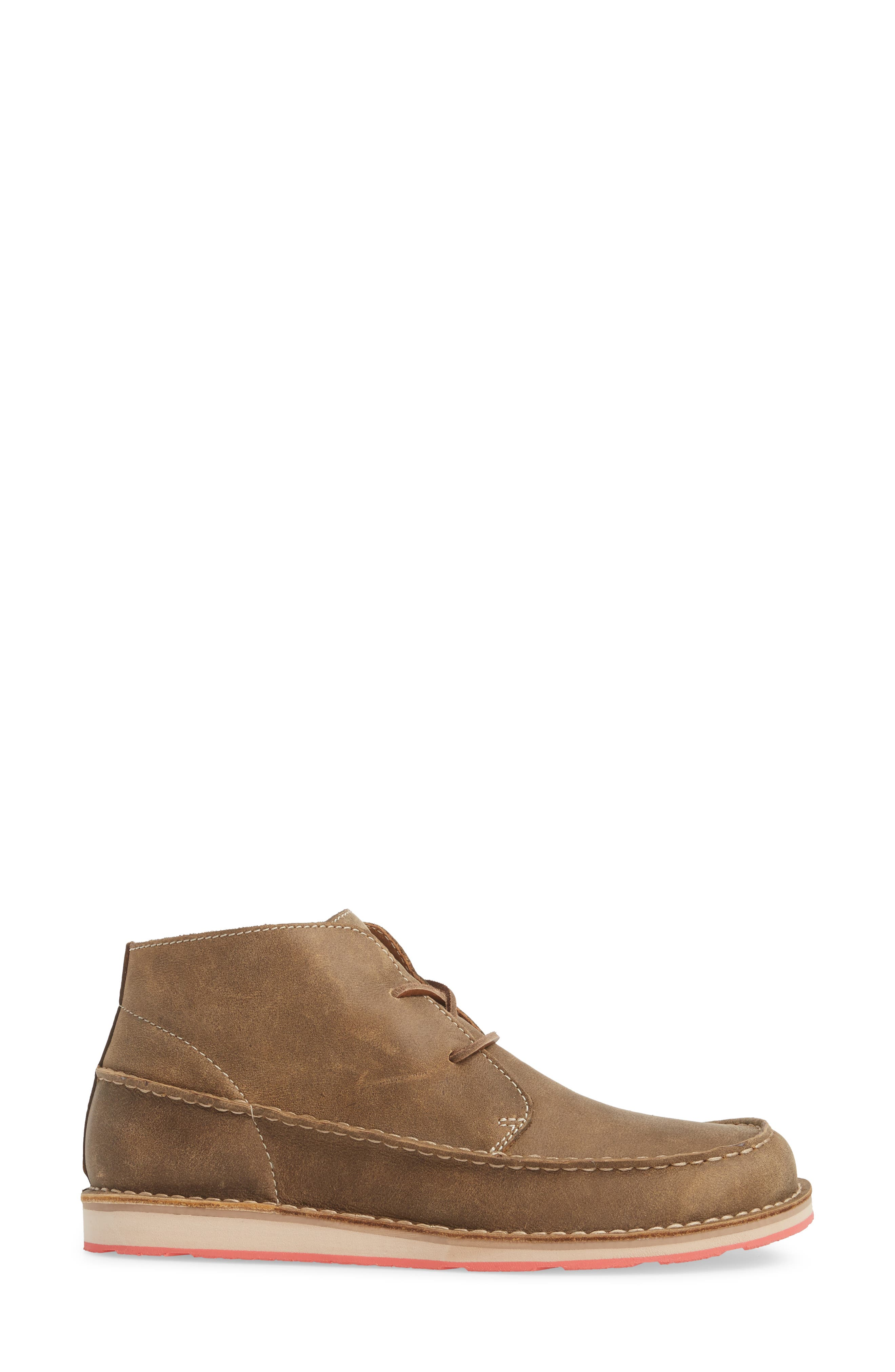 Cruiser Chukka Boot,                             Alternate thumbnail 3, color,                             Lace Brown Bomber Leather