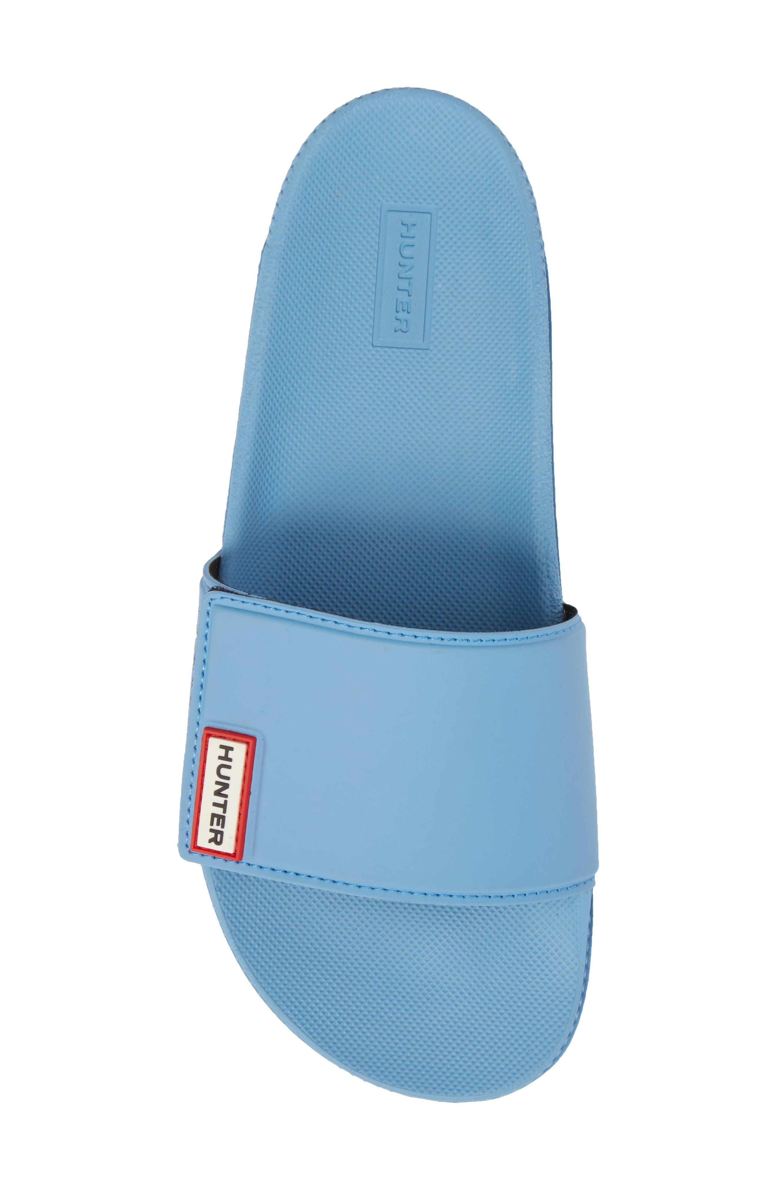 Original Adjustable Slide Sandal,                             Alternate thumbnail 4, color,                             Forget Me Not Blue