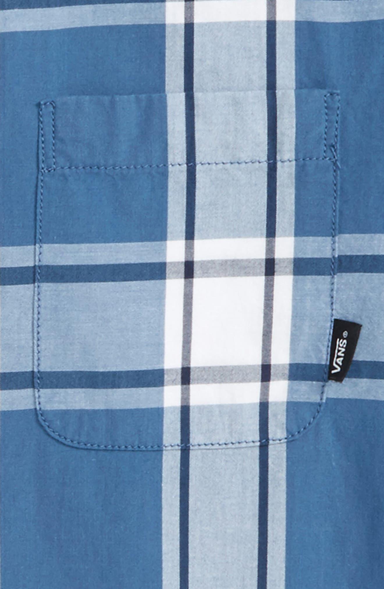 Mayfield Plaid Woven Shirt,                             Alternate thumbnail 2, color,                             Copen Blue