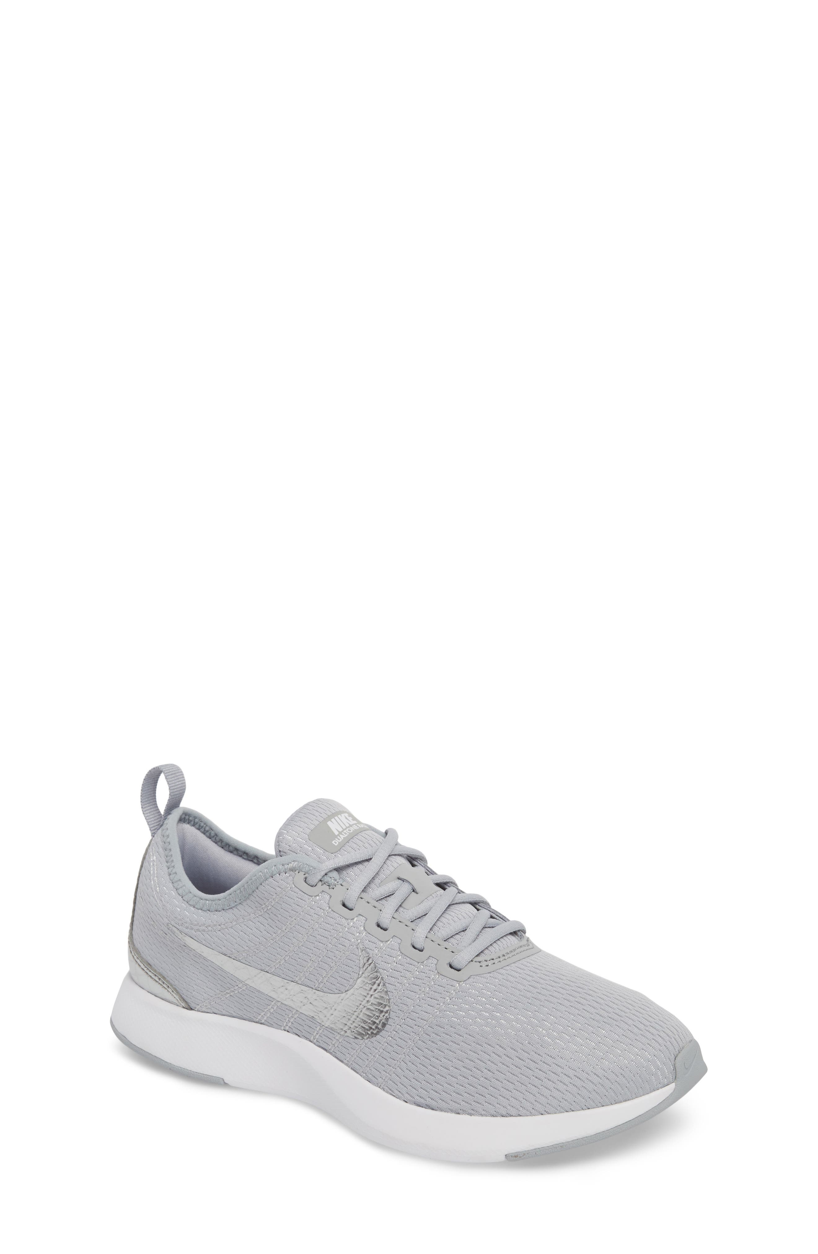Dualtone Racer GS Sneaker,                             Main thumbnail 1, color,                             Wolf Grey/ Metallic Silver