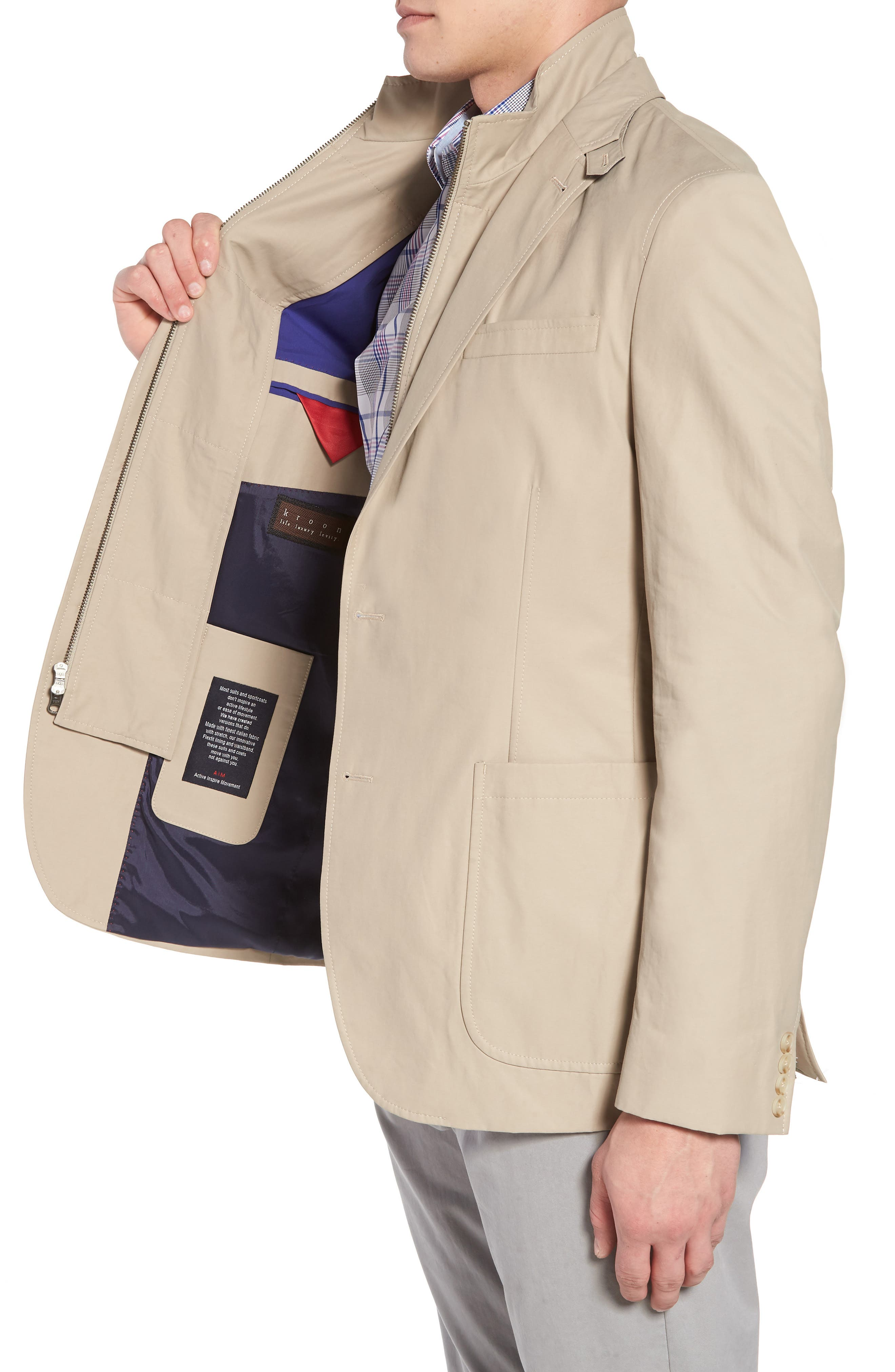 Jones AIM Classic Fit Hybrid Blazer,                             Alternate thumbnail 3, color,                             Tan