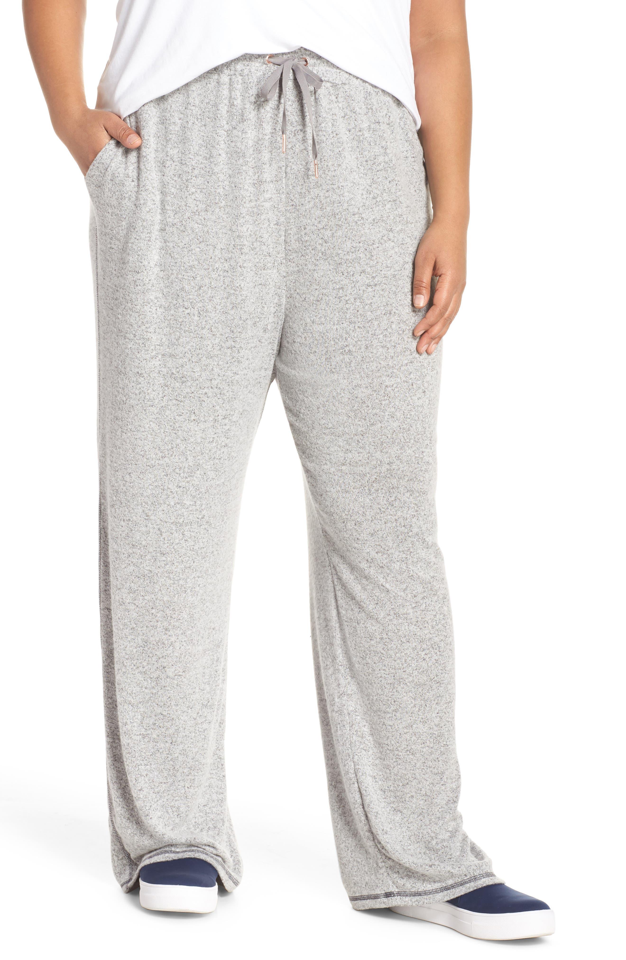 Caslon® Off Duty Wide Leg Pants (Plus Size)