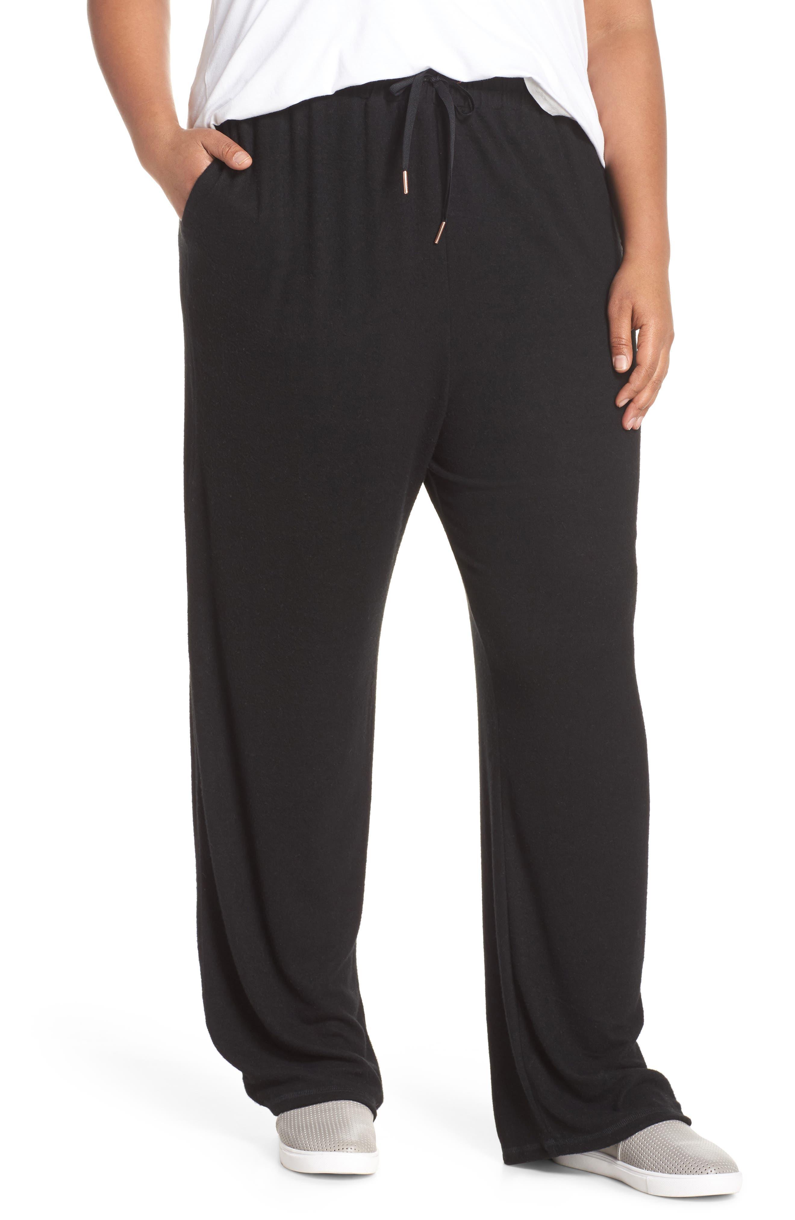 Off Duty Wide Leg Pants,                         Main,                         color, Black