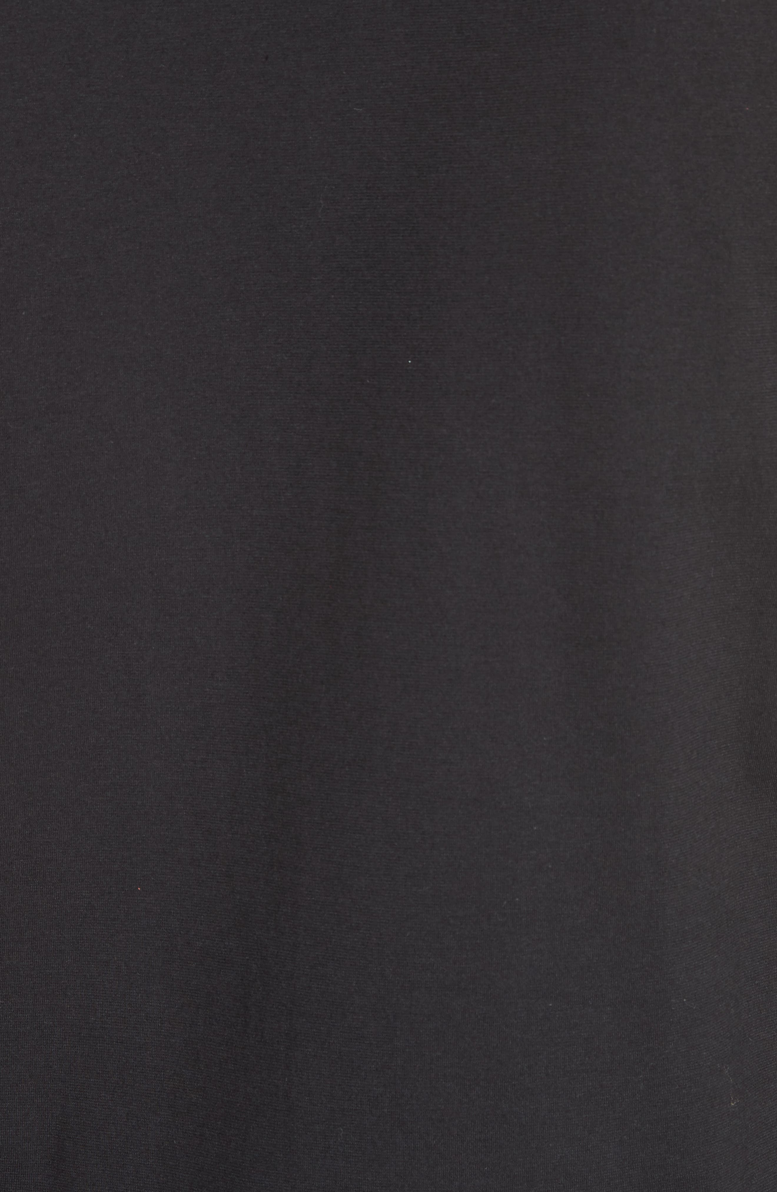 Cut Neck Long Sleeve T-Shirt,                             Alternate thumbnail 5, color,                             Black