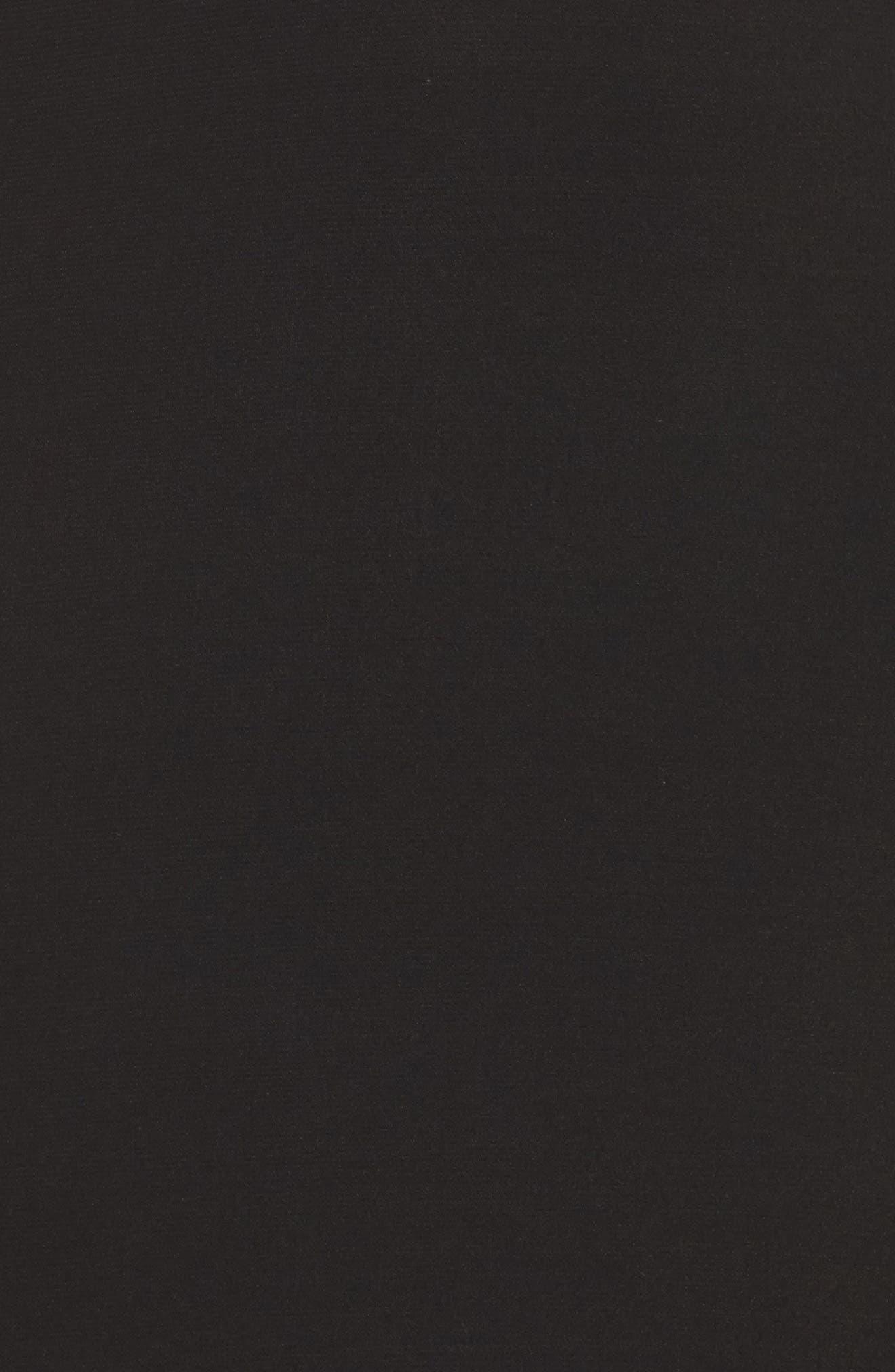 Lace Inset Gown,                             Alternate thumbnail 5, color,                             Black