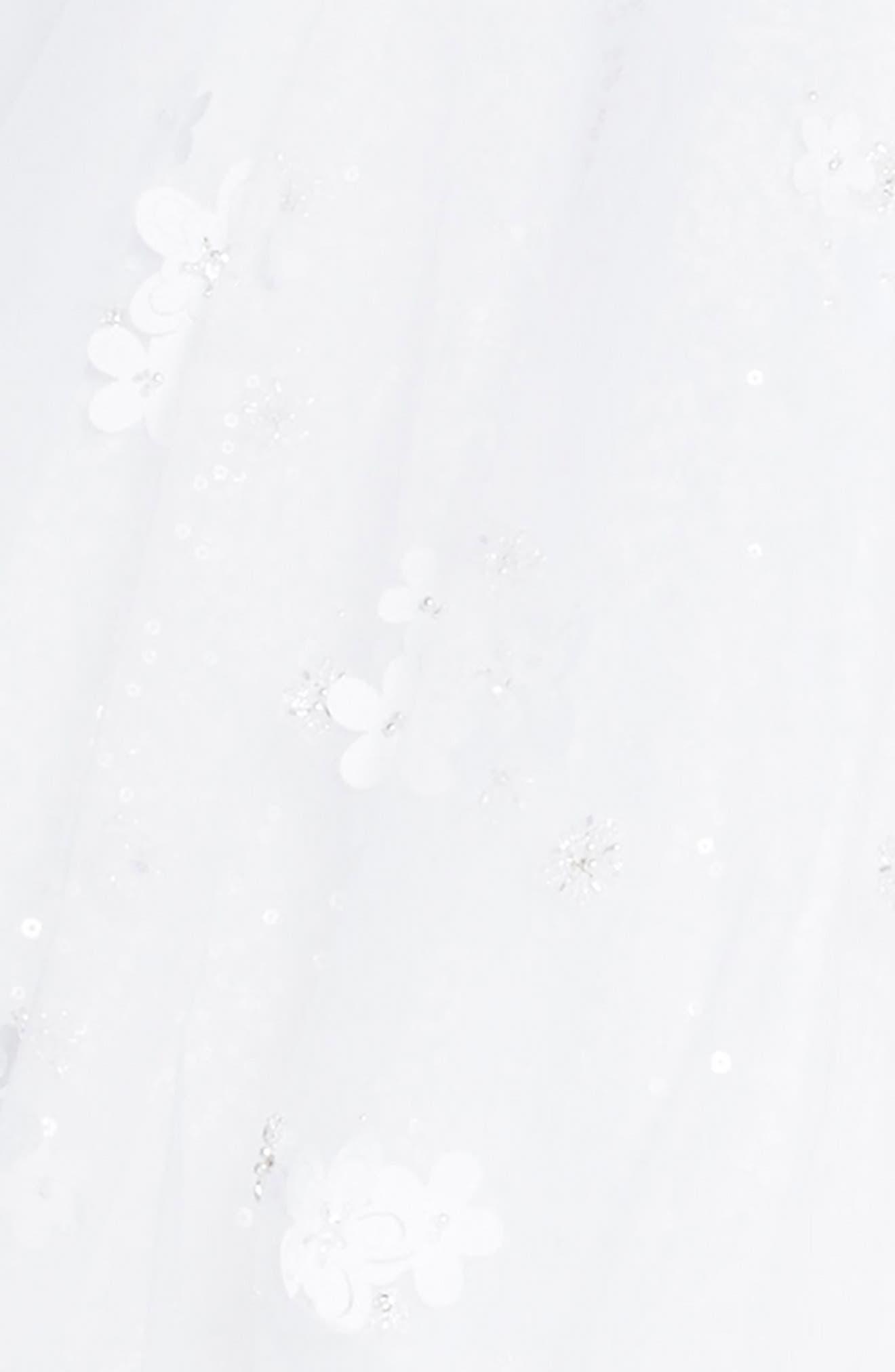 Beaded Tulle First Communion Dress,                             Alternate thumbnail 3, color,                             White