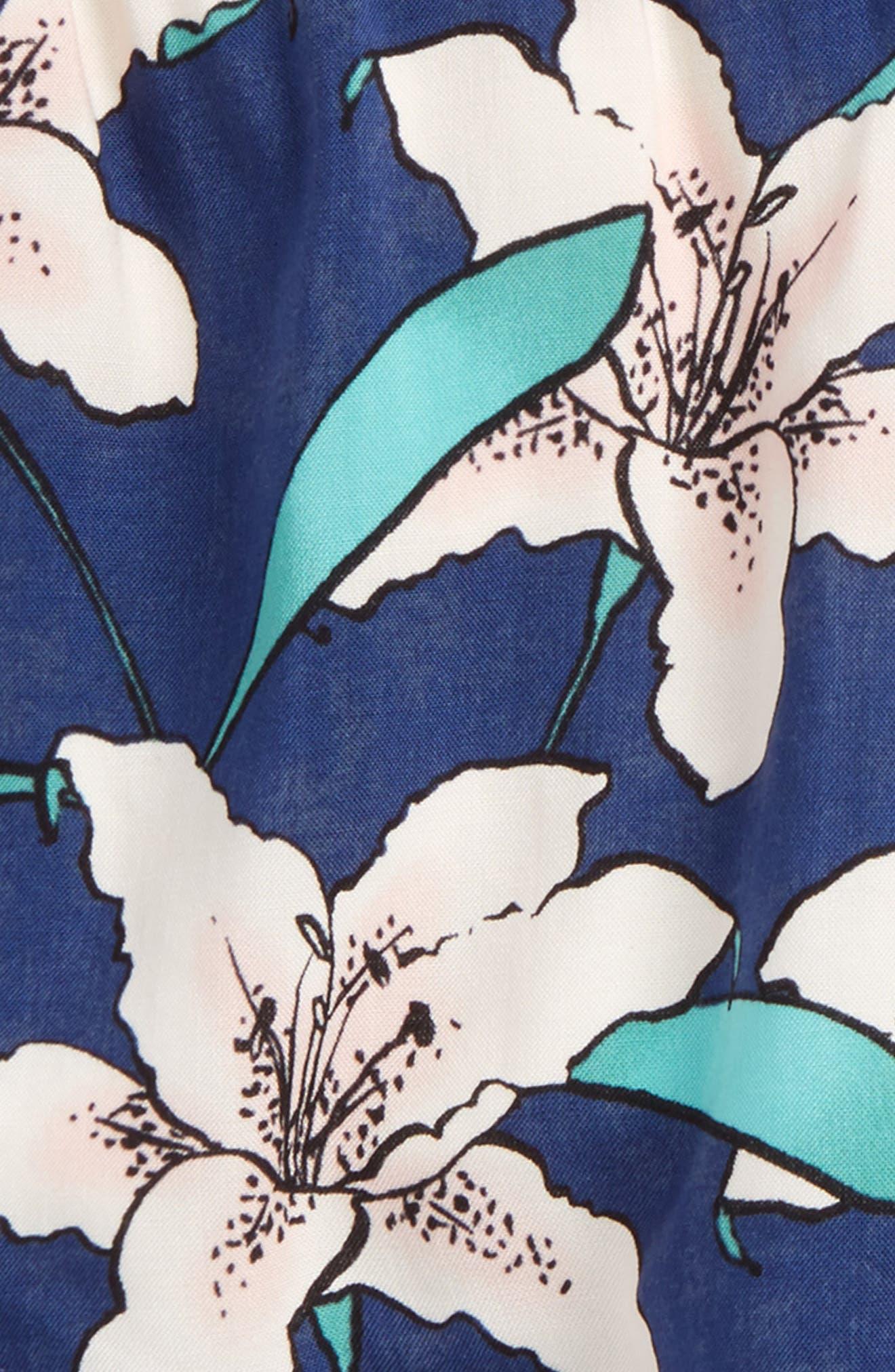 Winnie Floral Shorts,                             Alternate thumbnail 2, color,                             Estate Blue