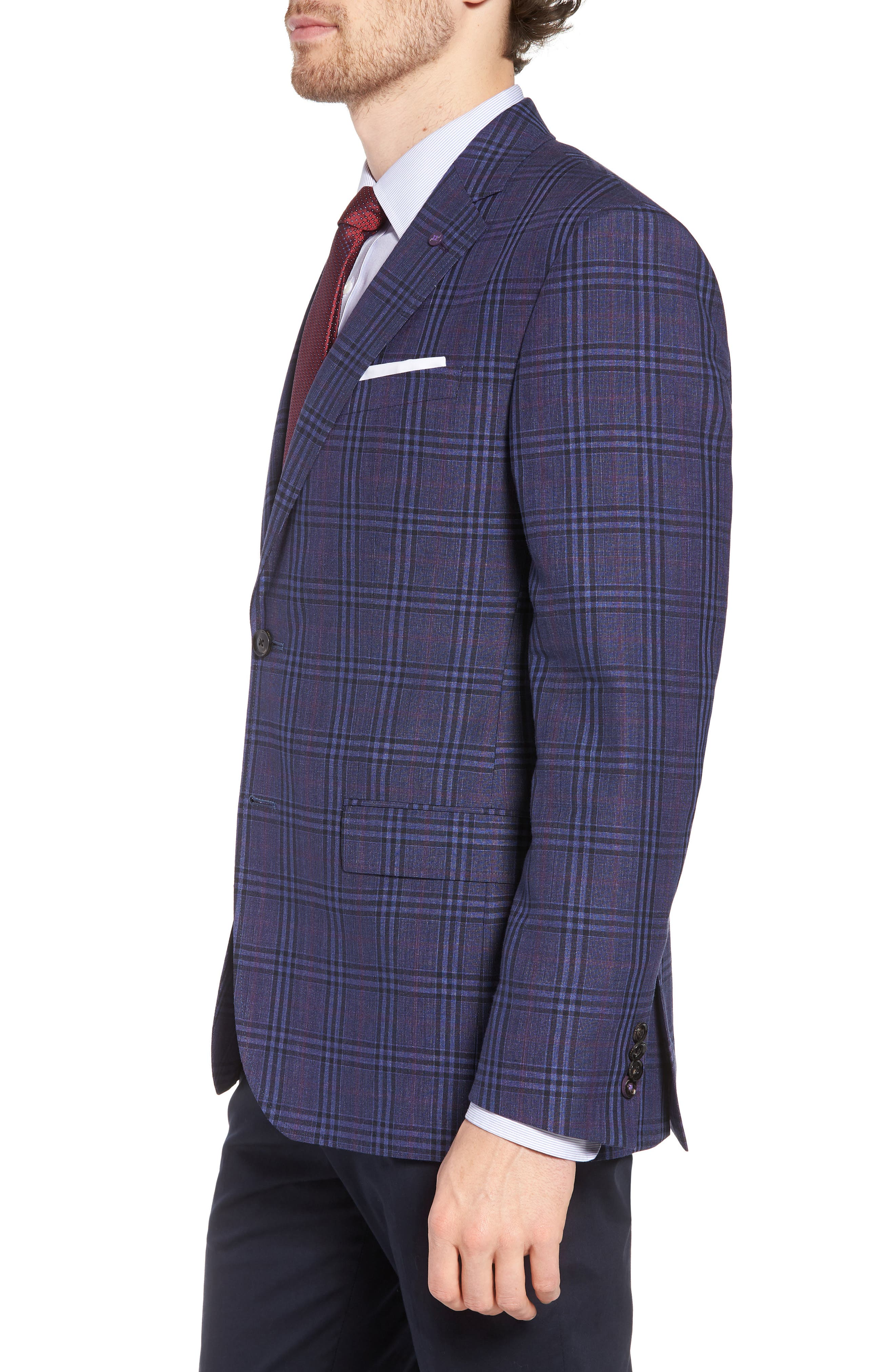 Alternate Image 3  - Ted Baker London Jay Trim Fit Plaid Wool & Linen Sport Coat