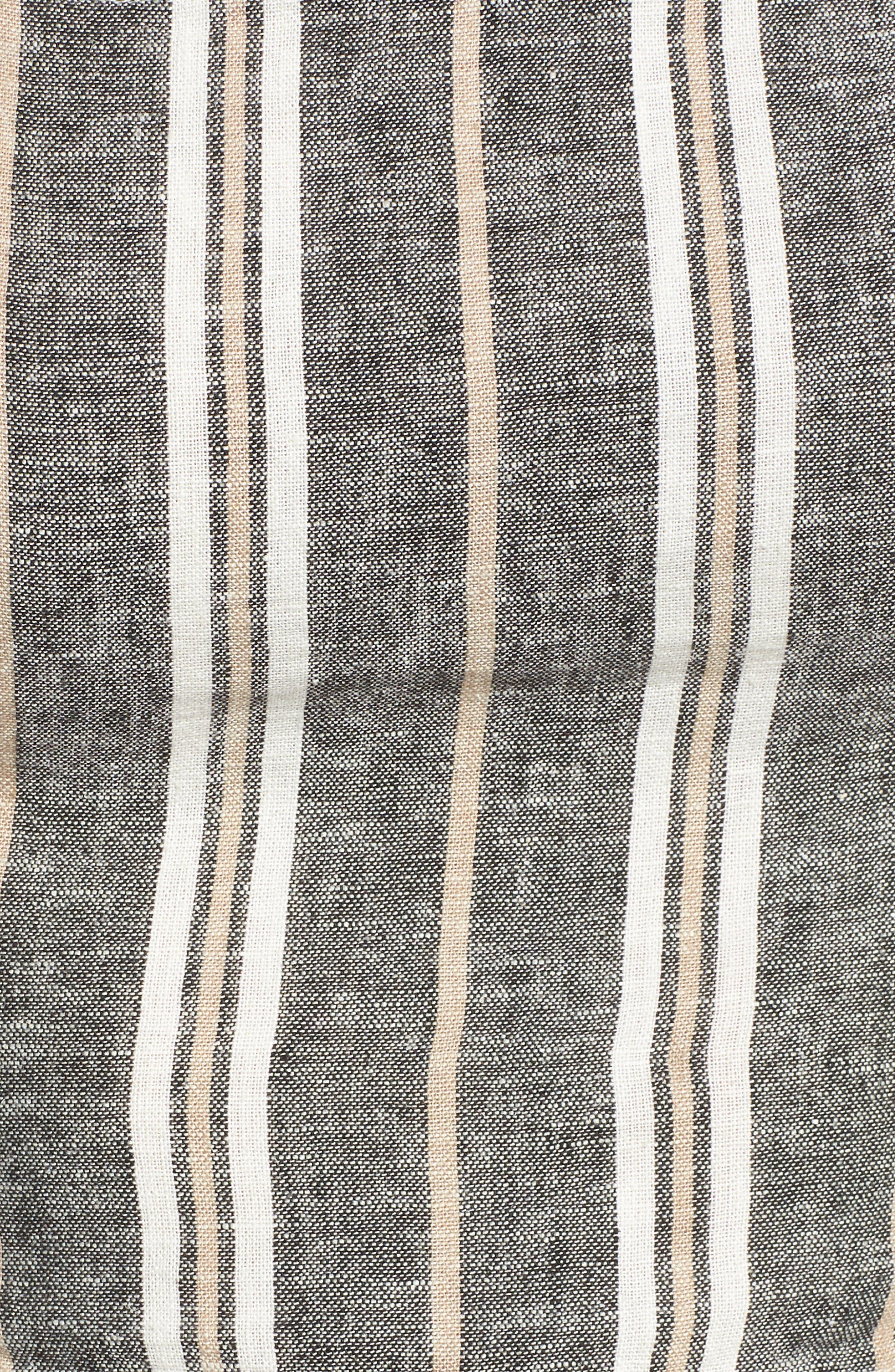 Stripe Linen Blend Tank,                             Alternate thumbnail 3, color,                             Black Betsty Stripe