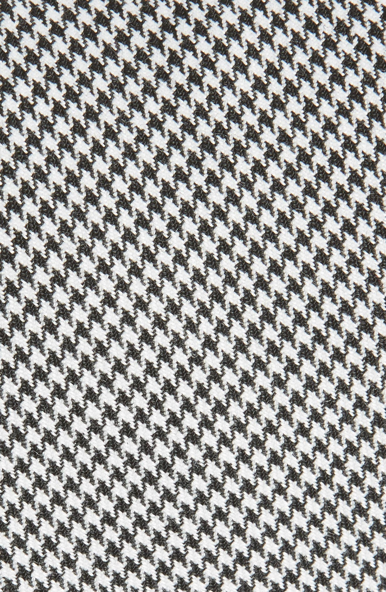 Houndstooth Woven Tie,                             Alternate thumbnail 2, color,                             Black