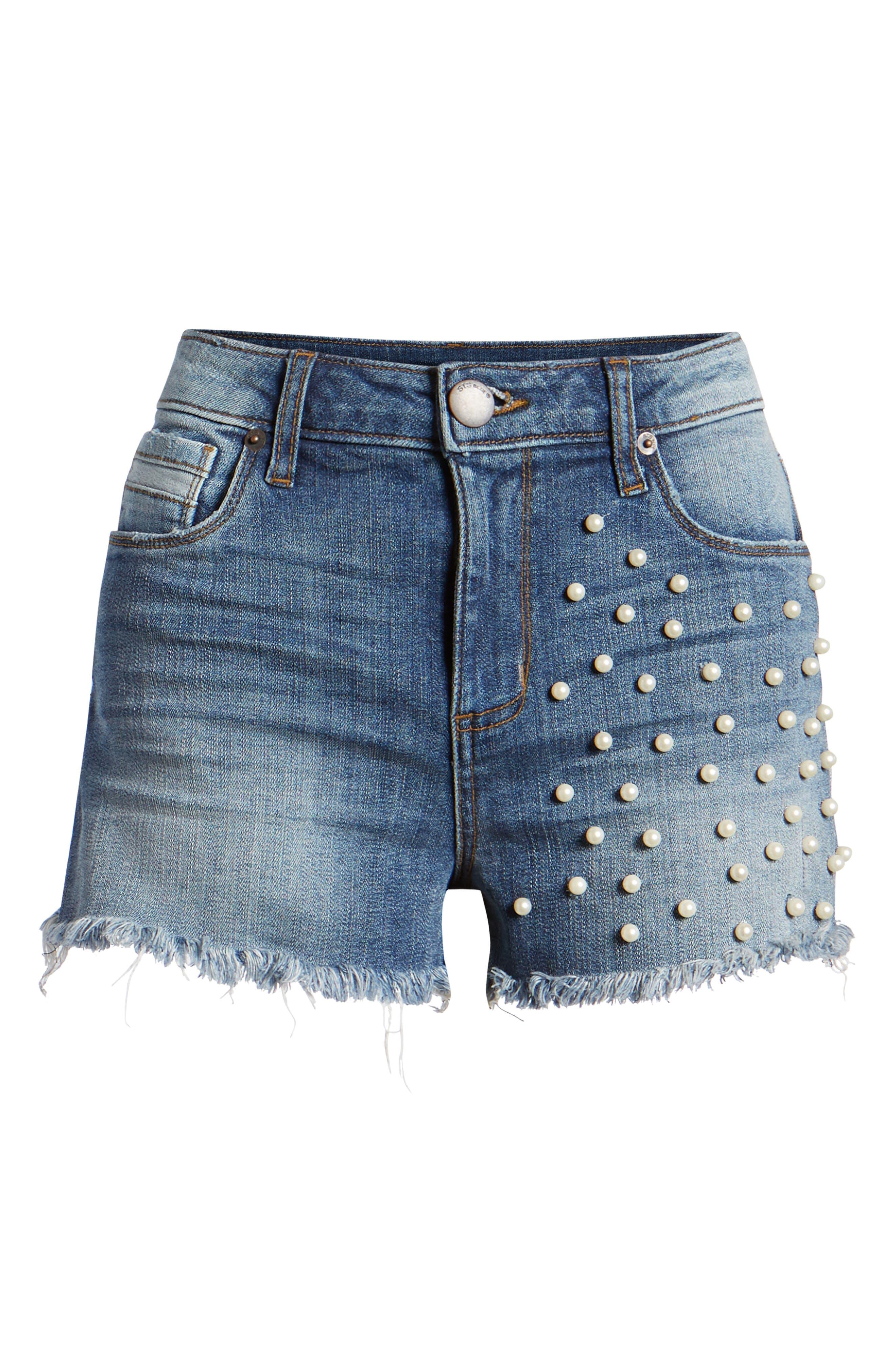 Alternate Image 6  - STS Blue Embellished Denim Shorts