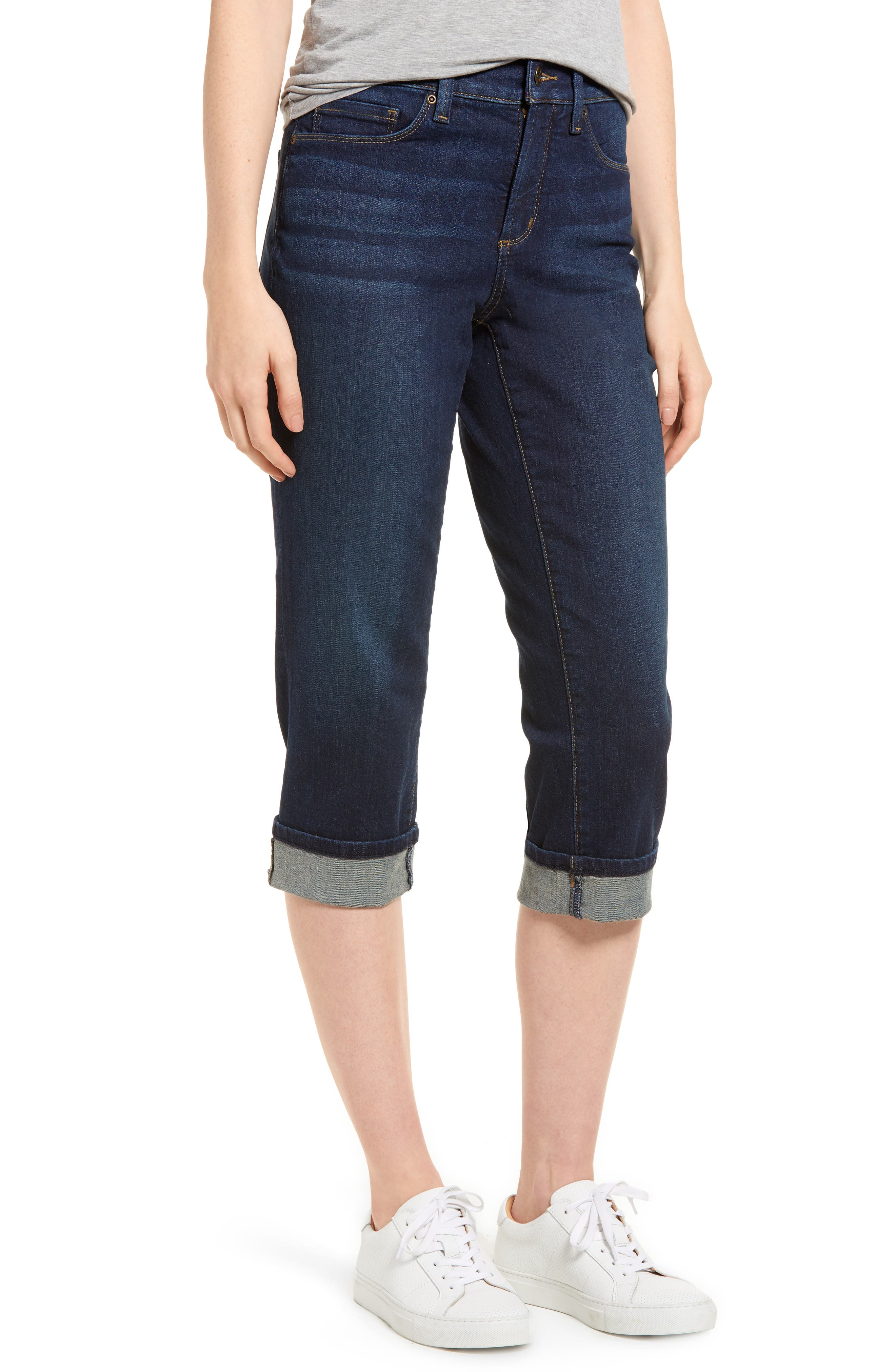 Marilyn Cropped Cuff Jeans,                         Main,                         color, Bezel