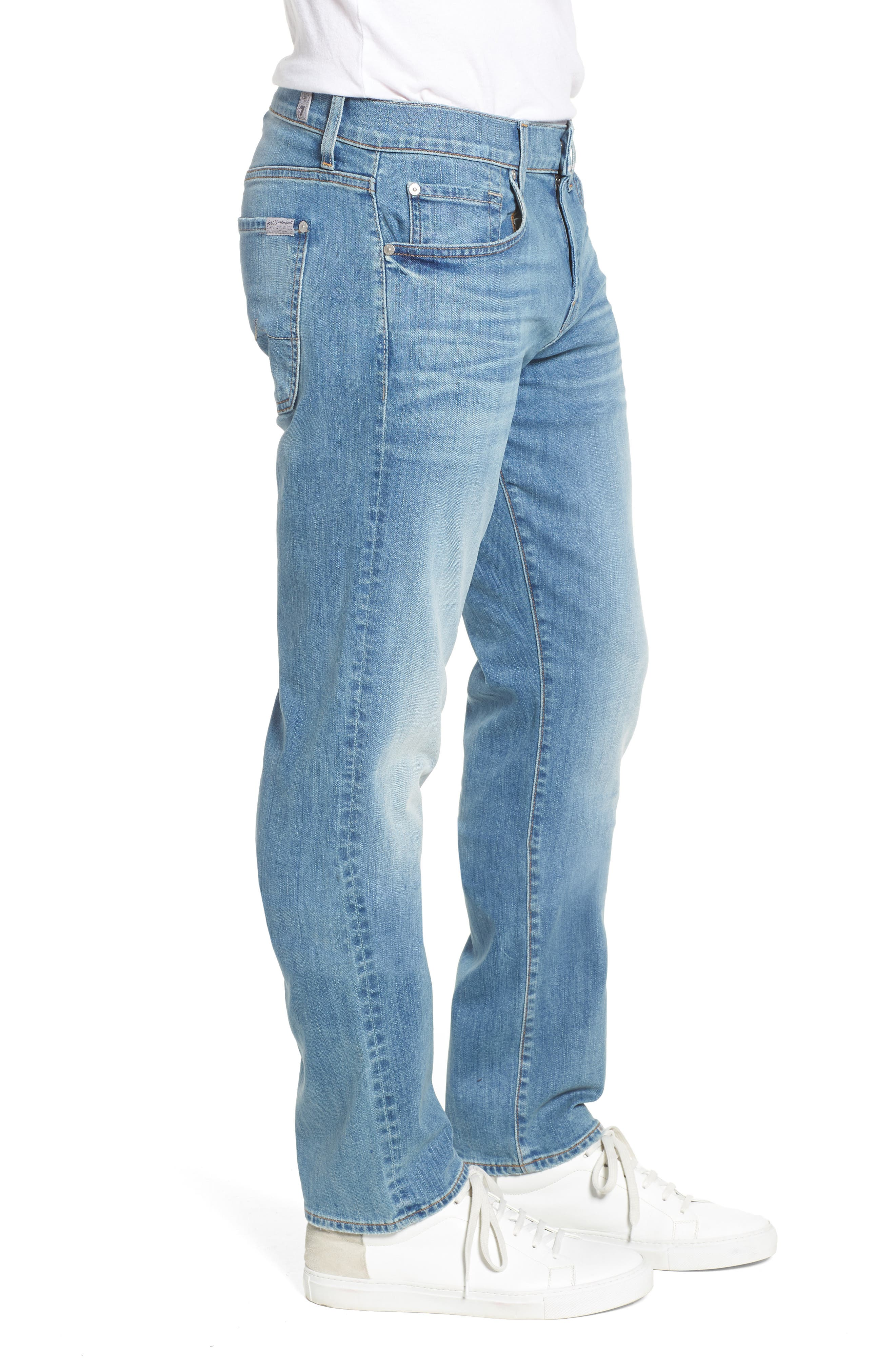 The Straight Slim Straight Leg Jeans,                             Alternate thumbnail 3, color,                             Valhalla