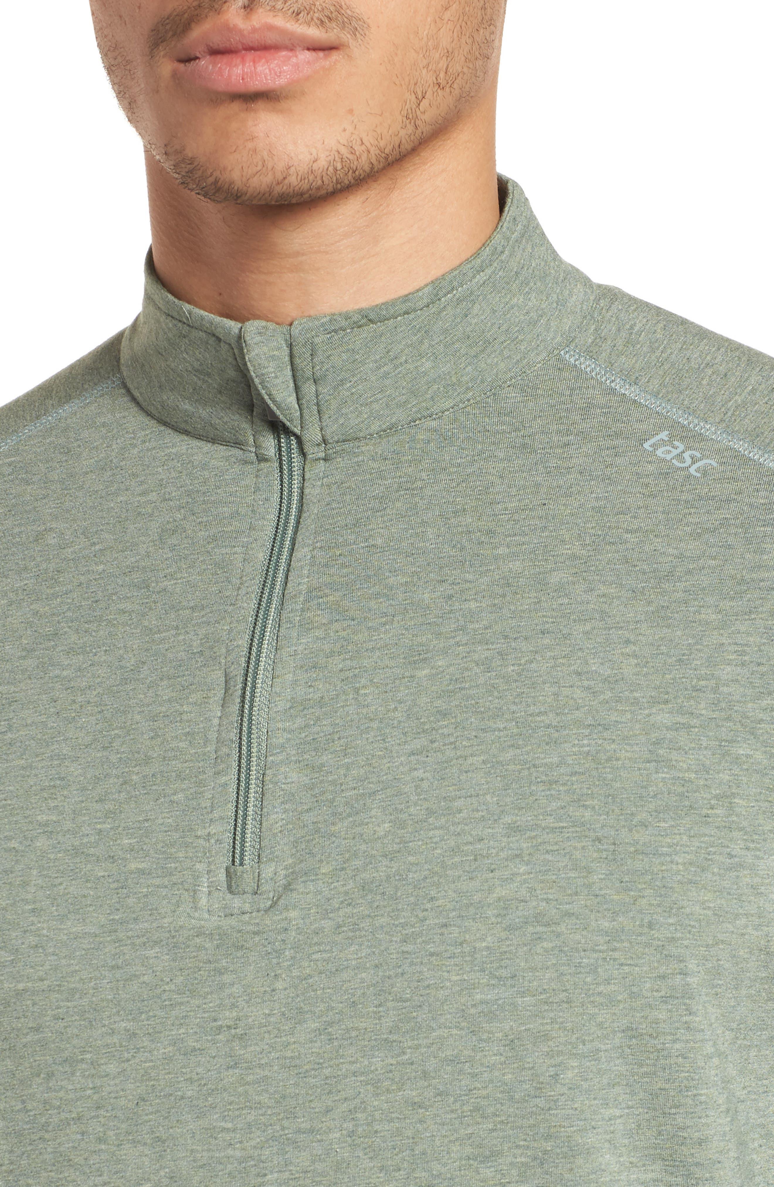 Carrollton Quarter Zip Sweatshirt,                             Alternate thumbnail 4, color,                             Kelp Heather