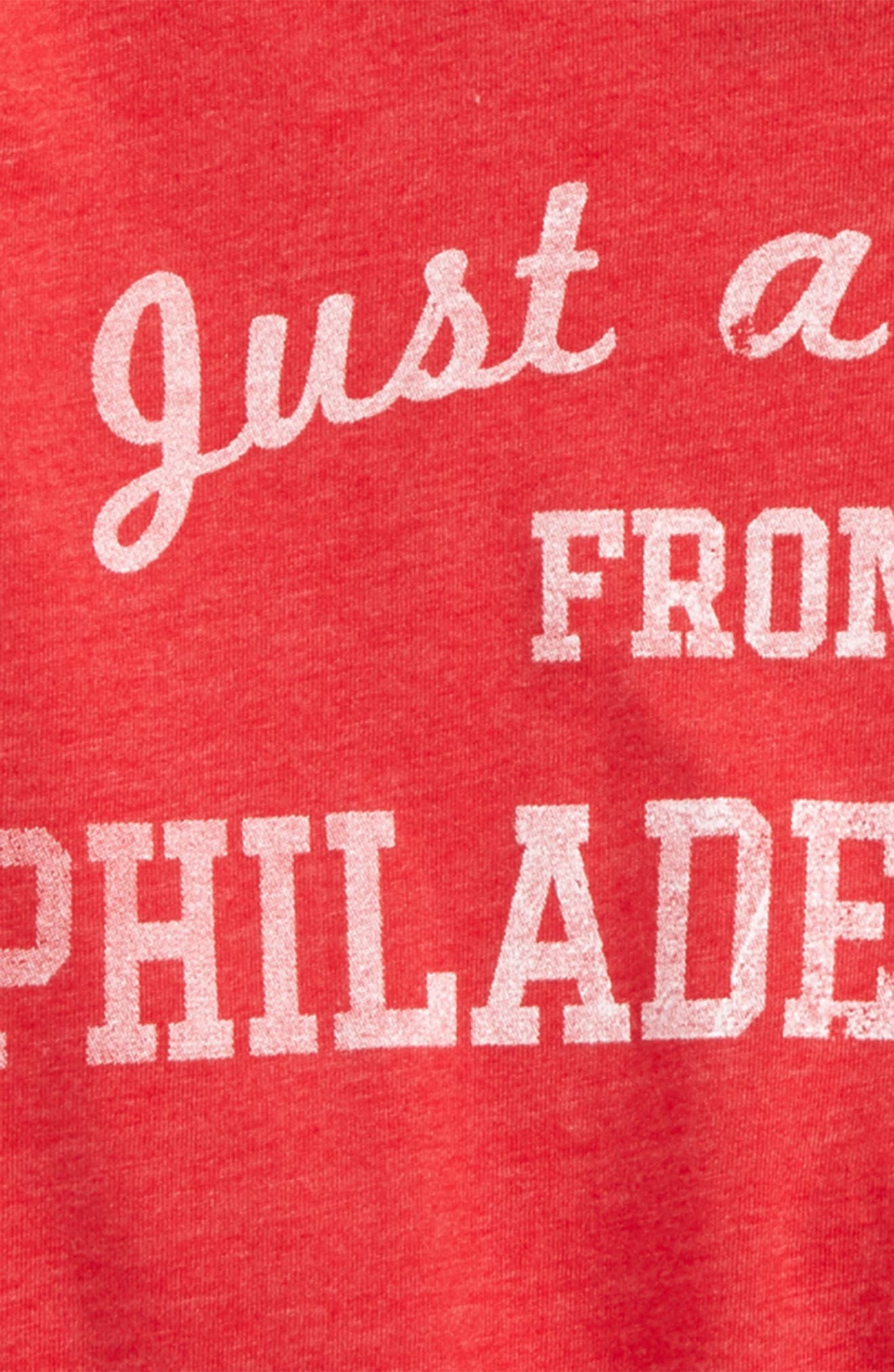 Just a Kid from Philadelphia Graphic T-Shirt,                             Alternate thumbnail 2, color,                             Red/ White