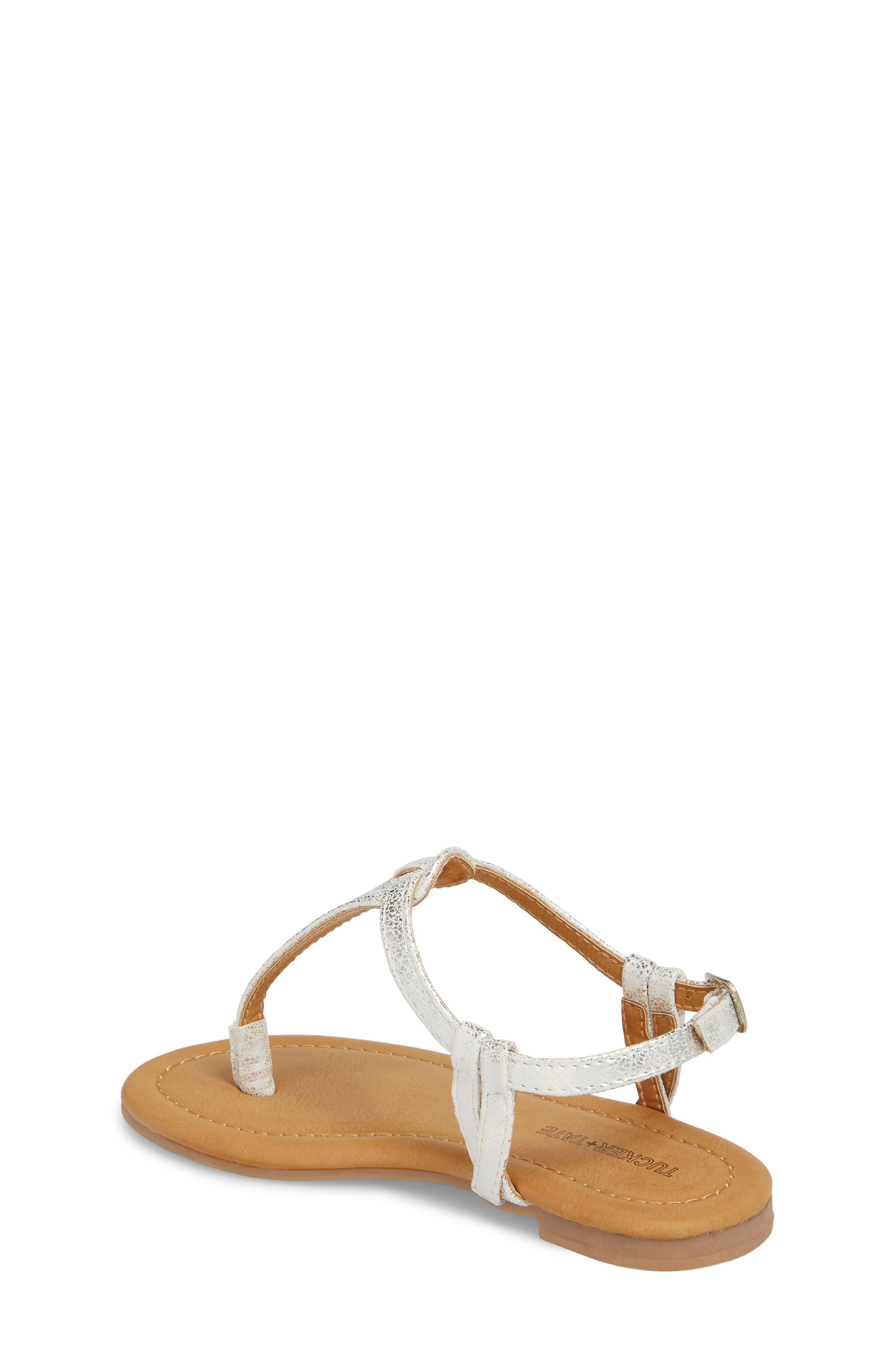 Lizzie Sandal,                             Alternate thumbnail 2, color,                             White/ Silver Faux Leather