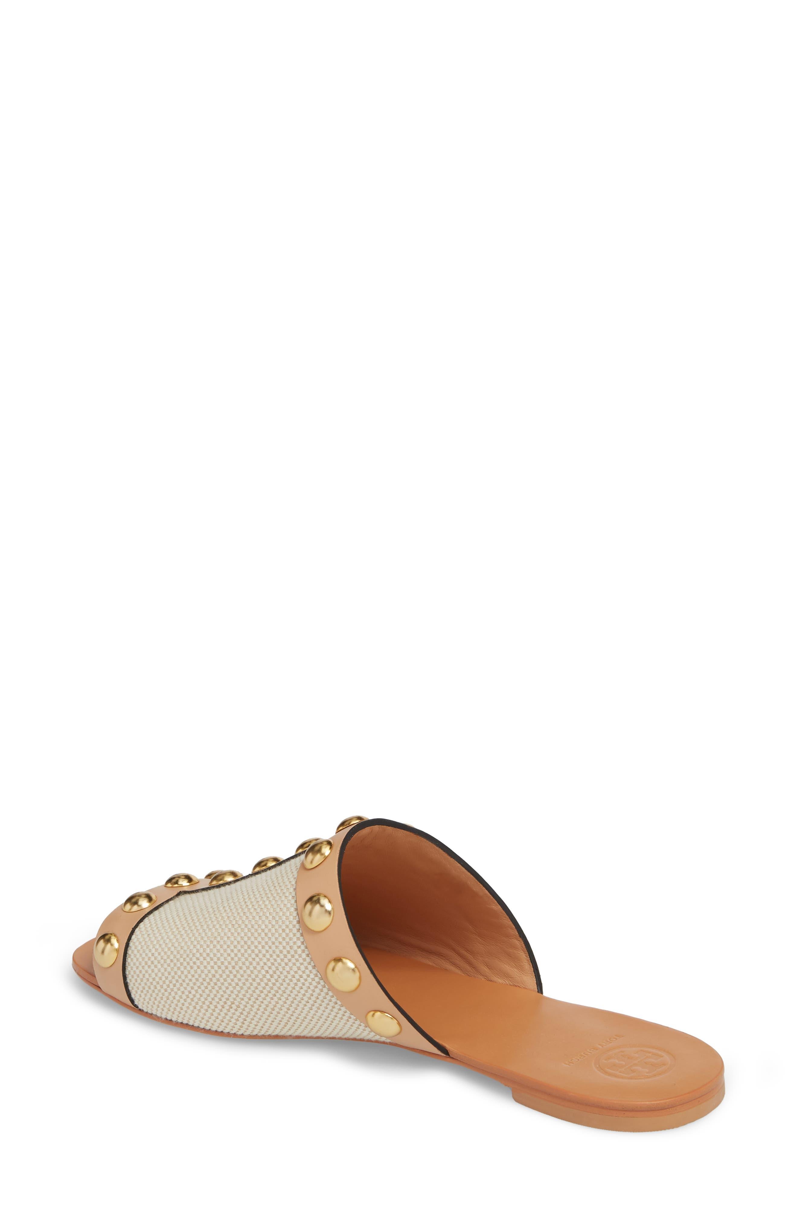 Blythe Slide Sandal,                             Alternate thumbnail 2, color,                             Sand/ Natural Vachetta