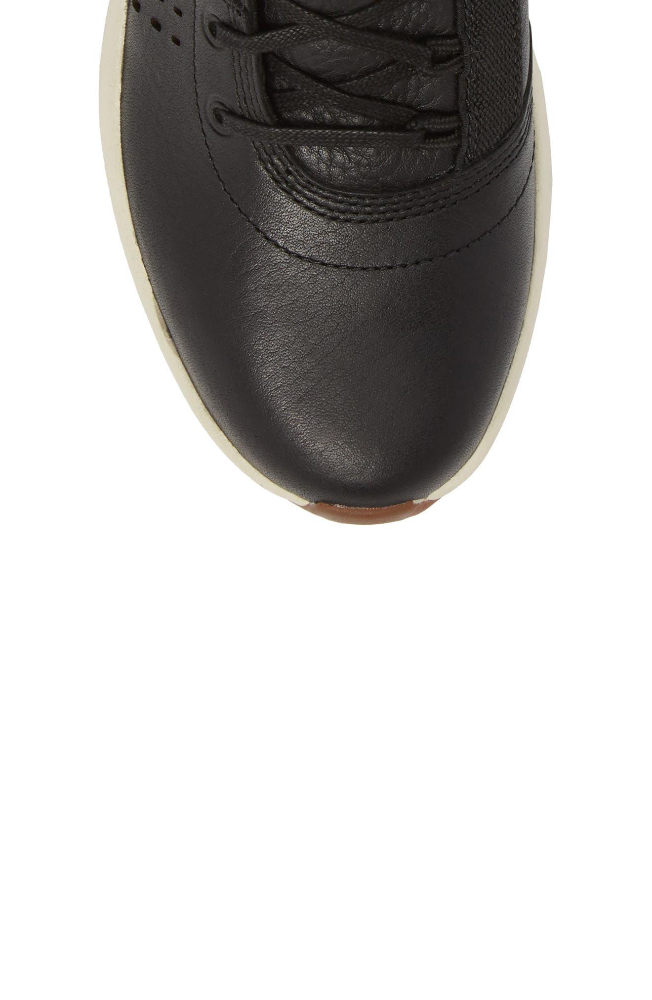 Flyroam Go Chukka Bootie,                             Alternate thumbnail 5, color,                             Black Leather
