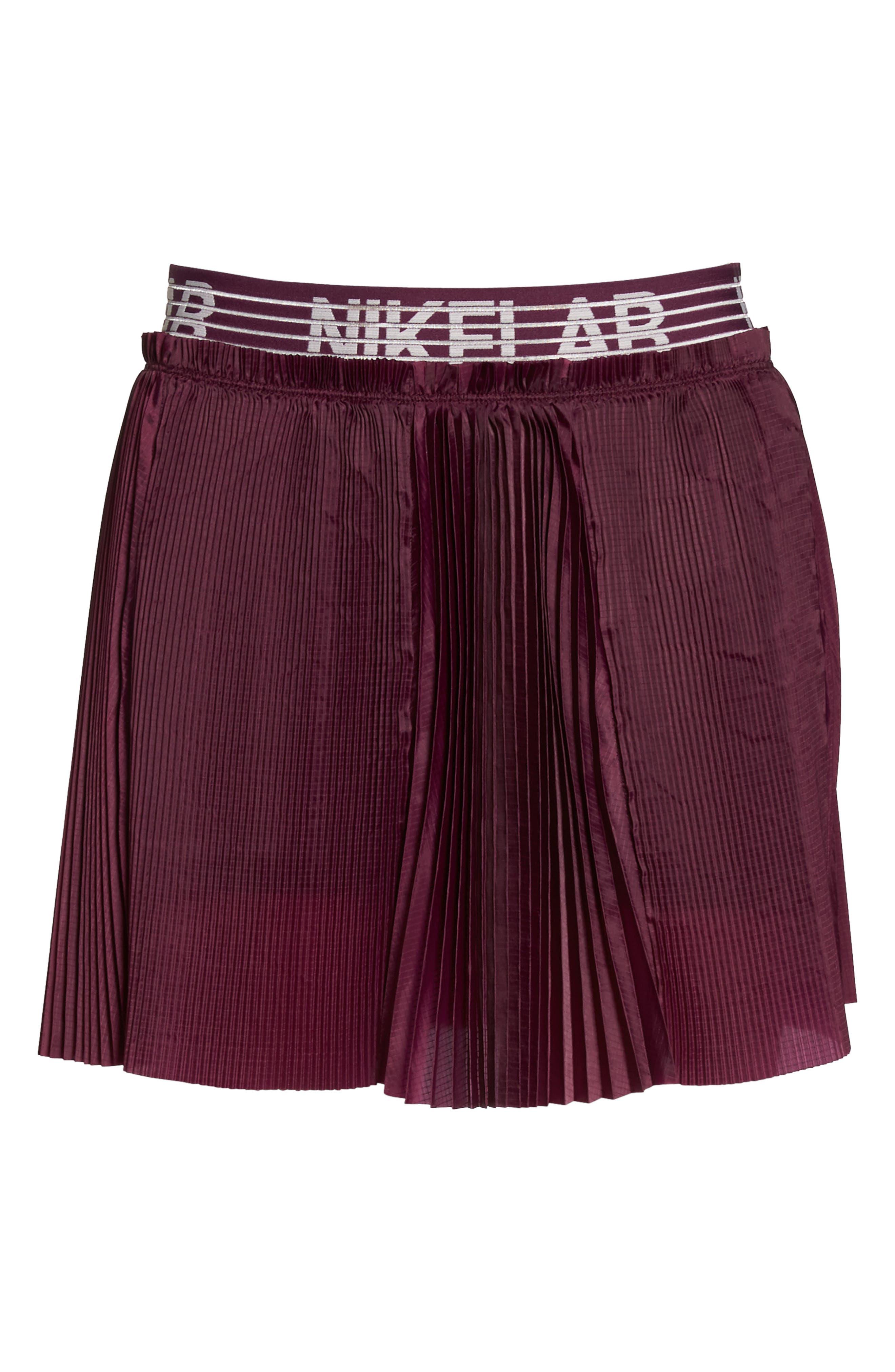 NikeLab Collection Dri-FIT Tennis Skirt,                             Alternate thumbnail 7, color,                             Bordeaux
