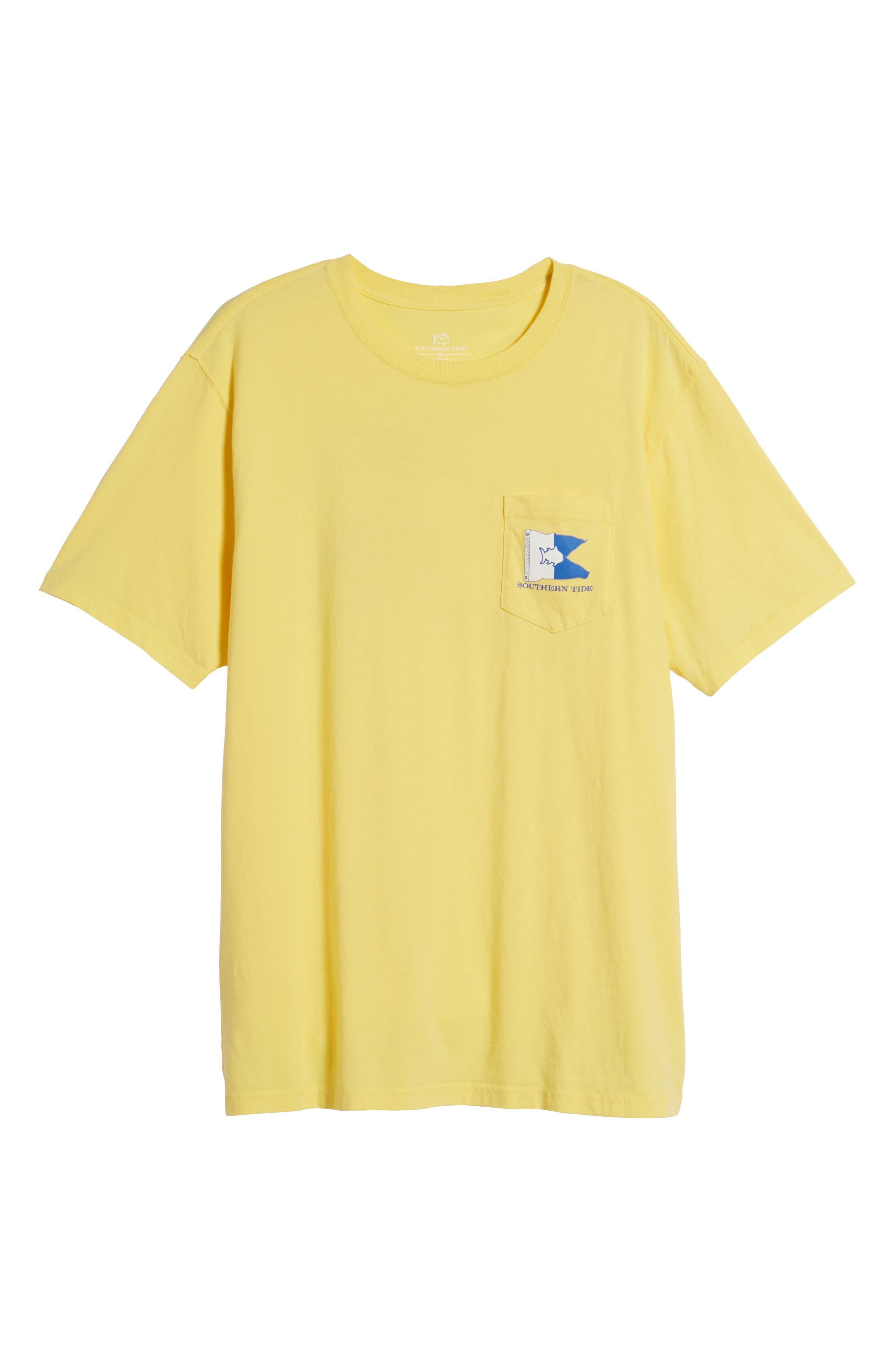 Alpha Up Crewneck T-Shirt,                             Alternate thumbnail 6, color,                             Sunshine