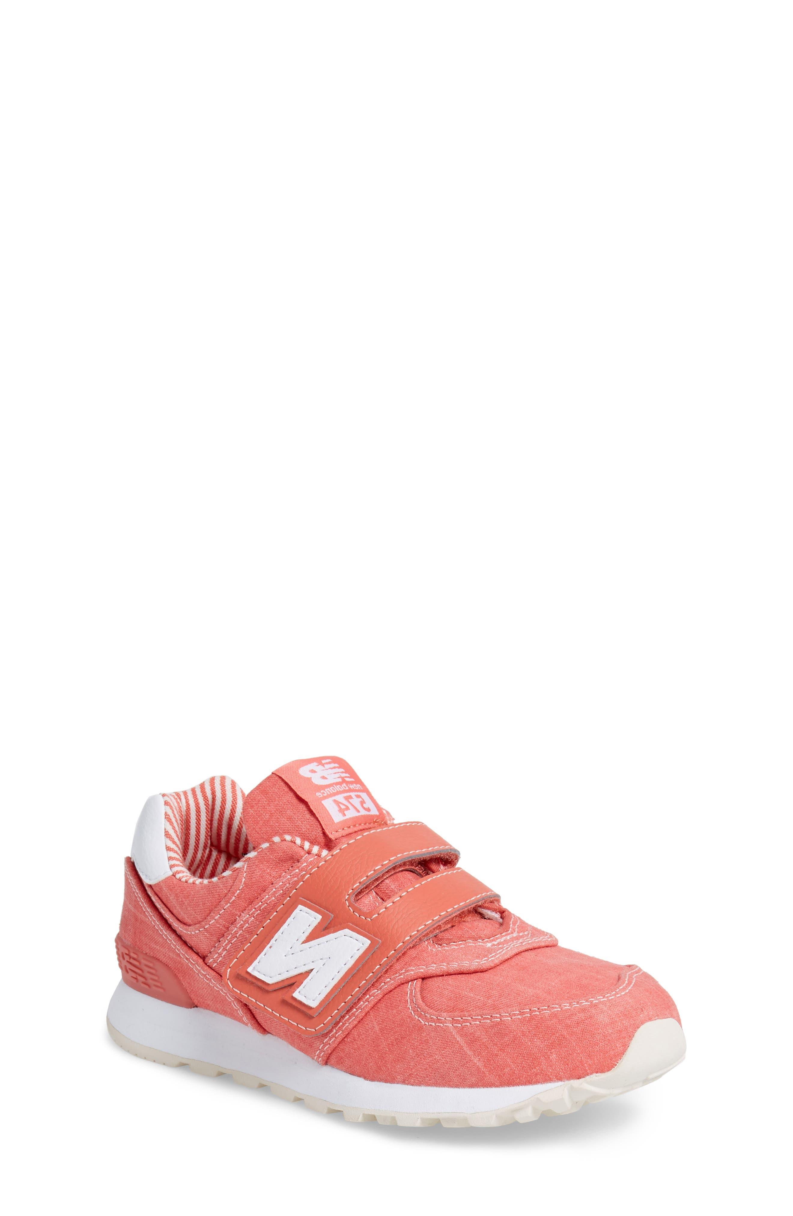 574v1 Sneaker,                             Main thumbnail 1, color,                             Coral