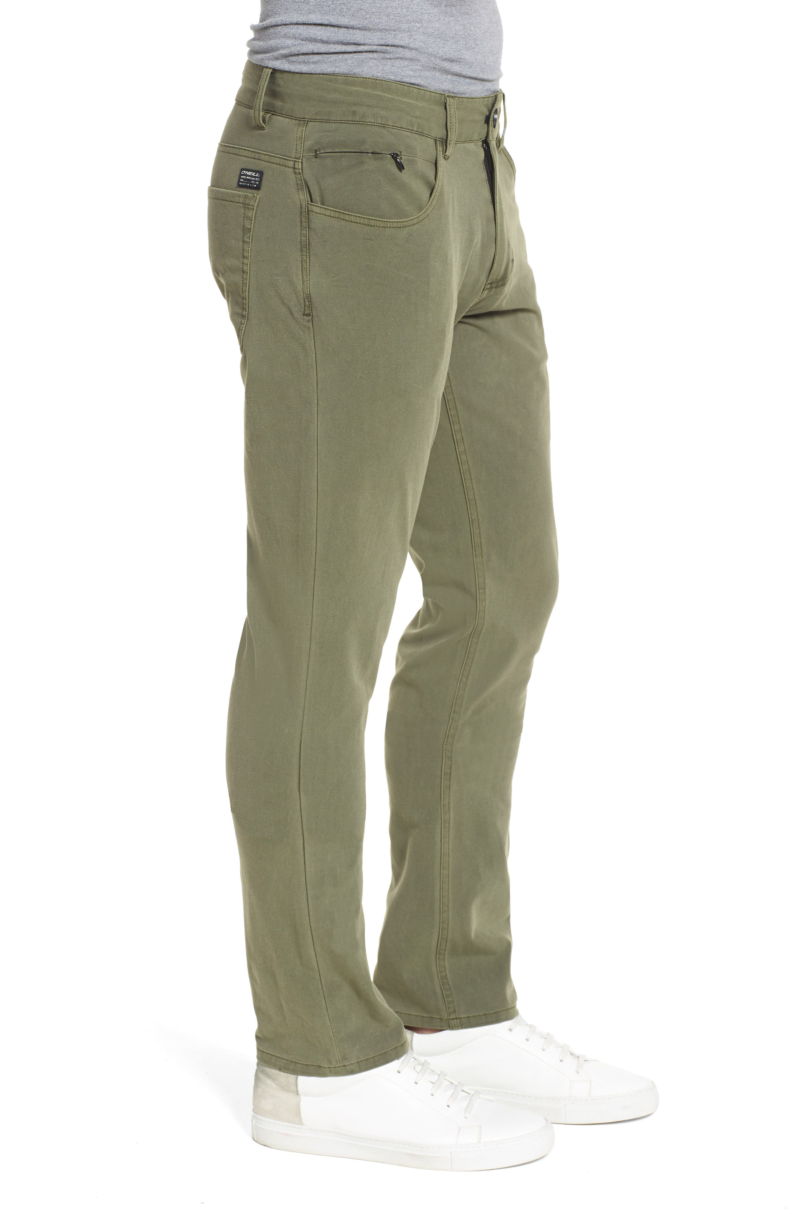Venture Slim Fit Hybrid Pants,                             Alternate thumbnail 3, color,                             Army