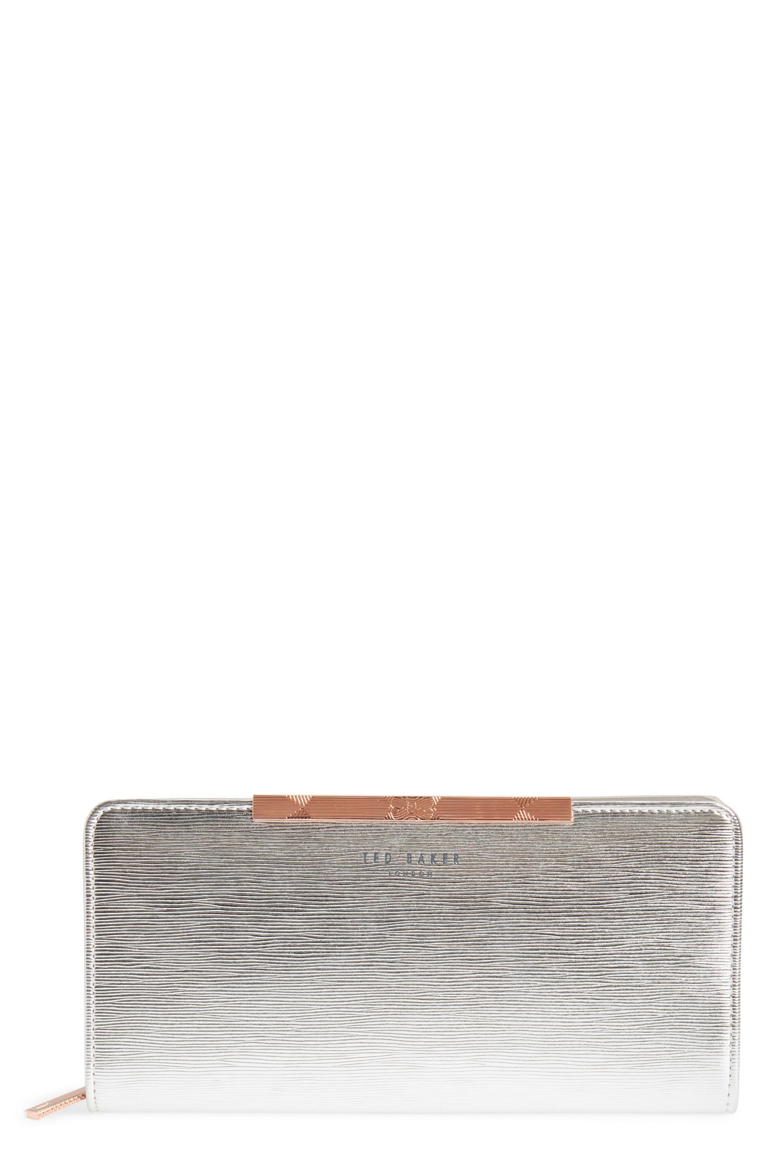 Ted Baker London Yasmine Plissé Leather Matinée Wallet