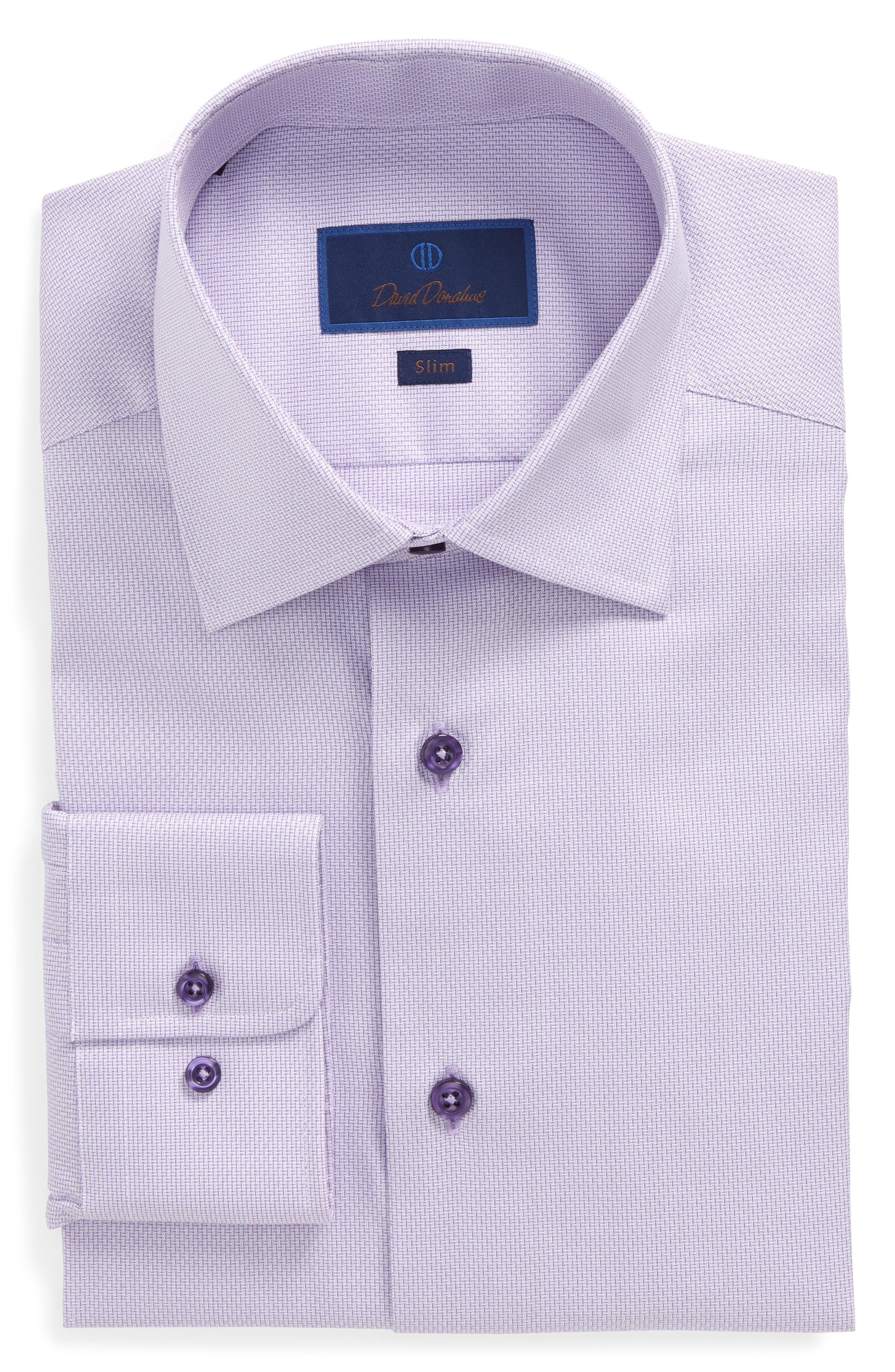 Slim Fit Solid Dress Shirt,                             Main thumbnail 1, color,                             Lilac