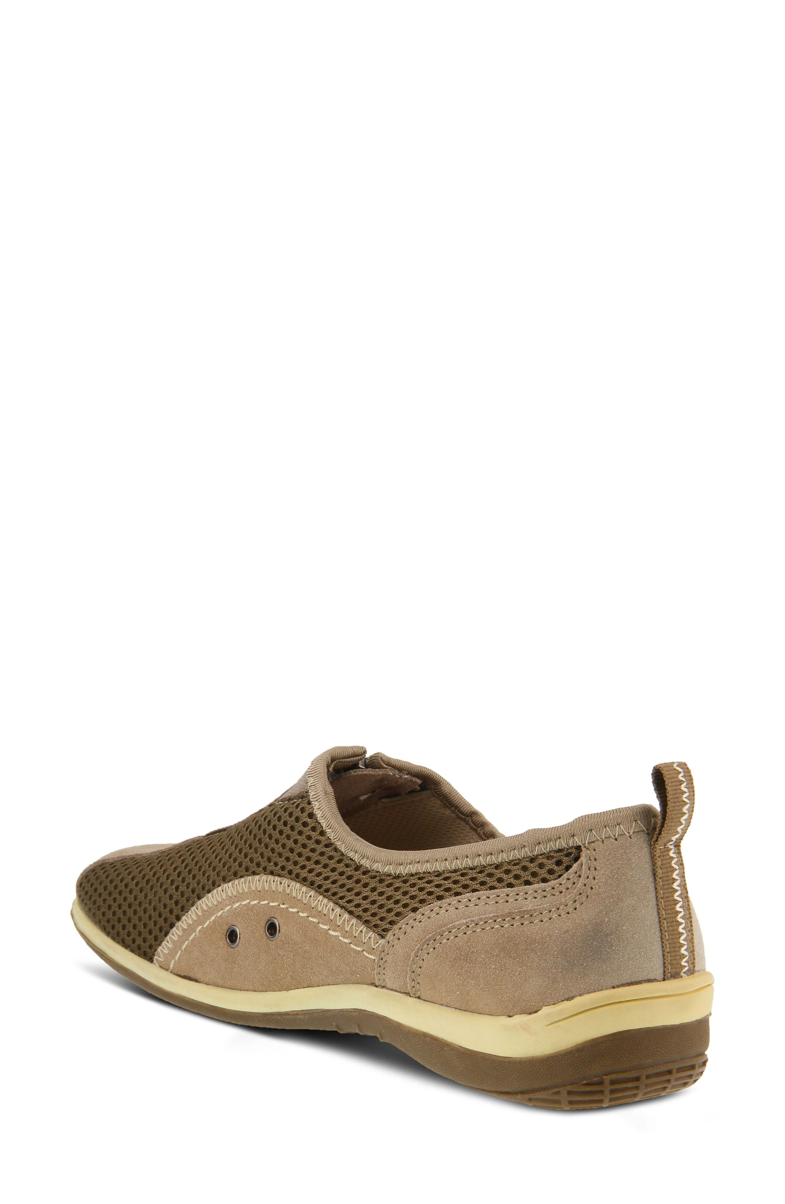 Racer Slip-On Sneaker,                             Alternate thumbnail 2, color,                             Taupe Suede