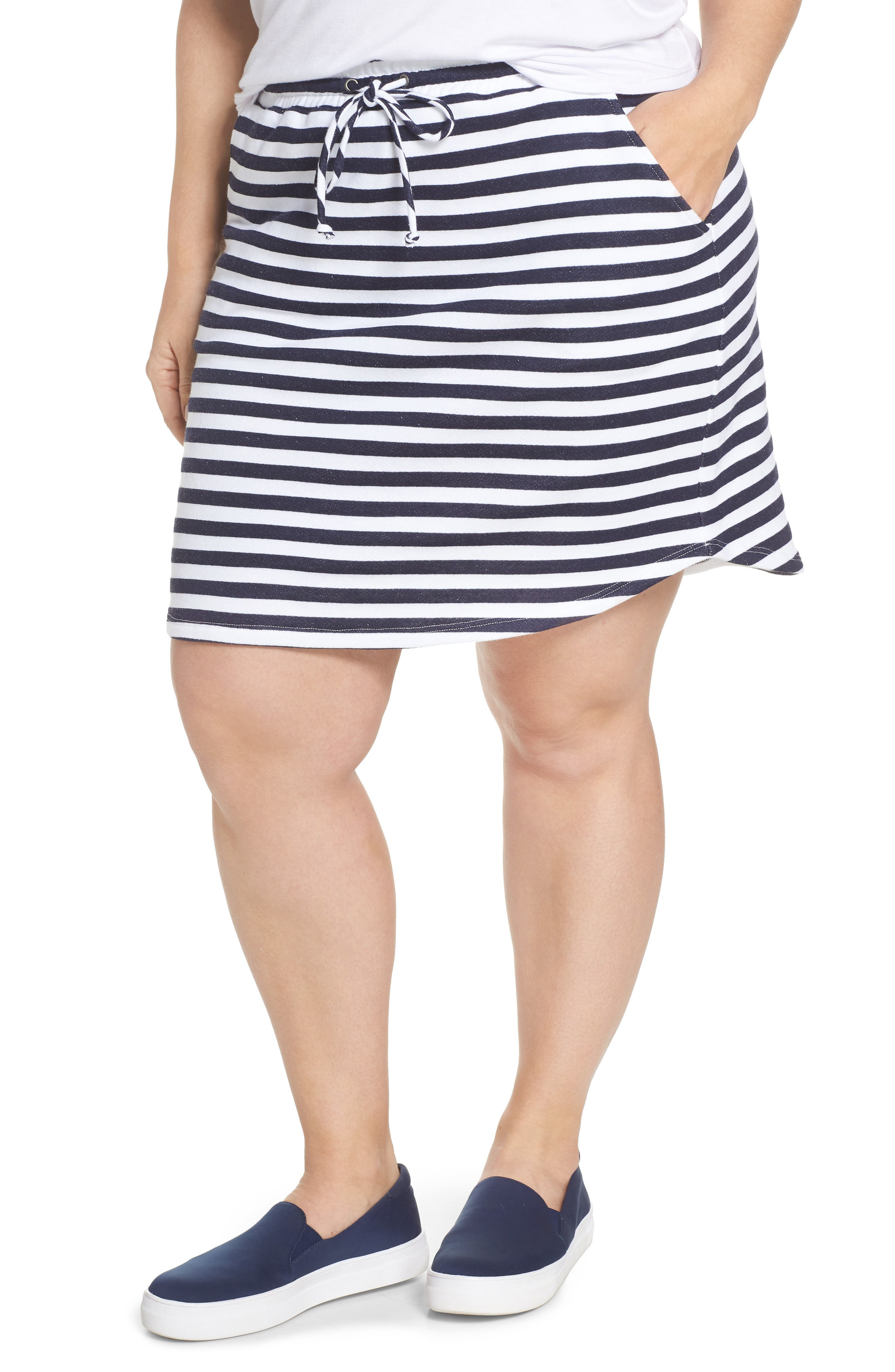 Gibson x Living in Yellow Cassidy French Terry Skirt (Plus Size) (Nordstrom Exclusive)