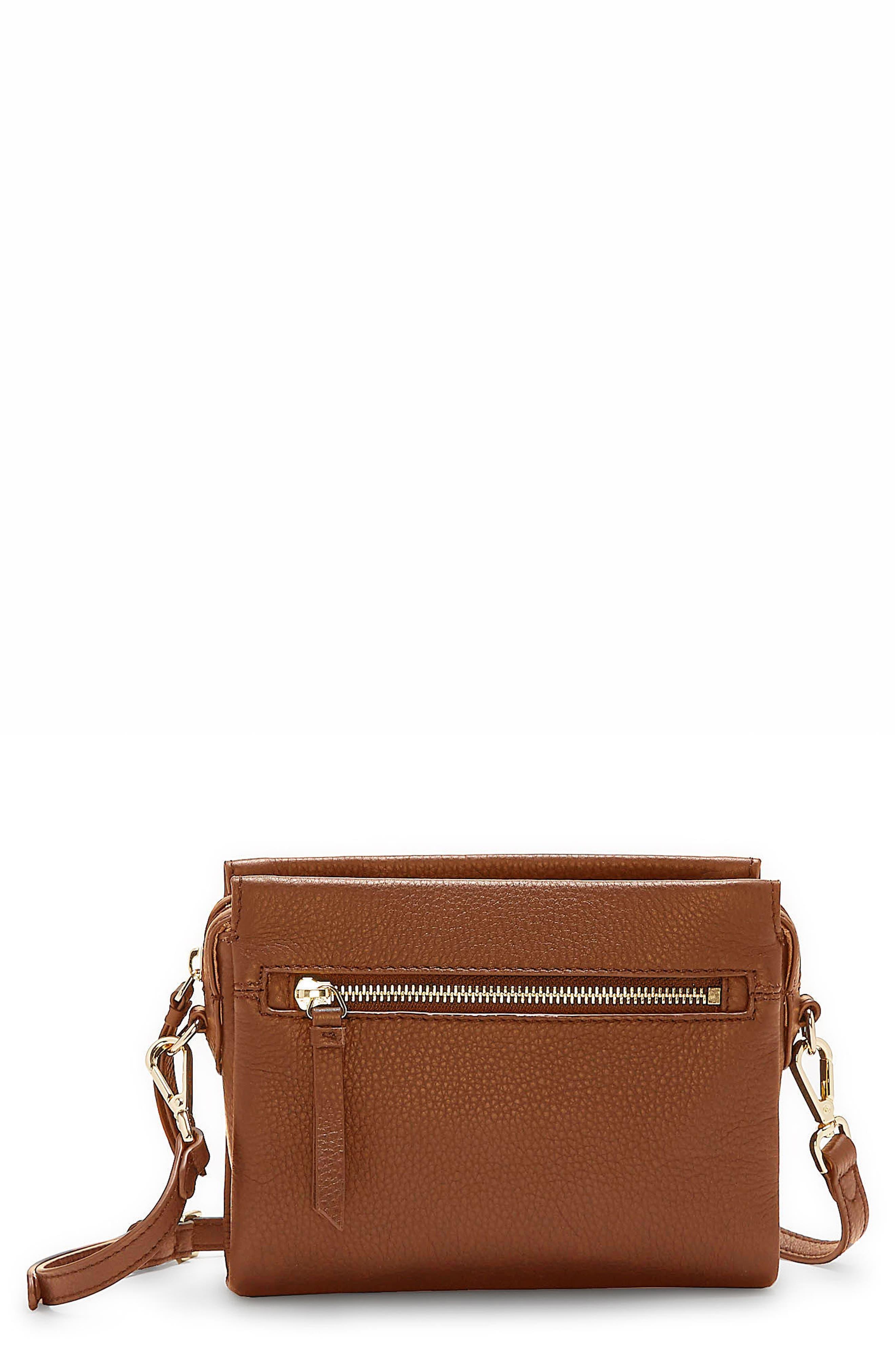 Codec Leather Crossbody Bag,                             Main thumbnail 1, color,                             Dark Rum