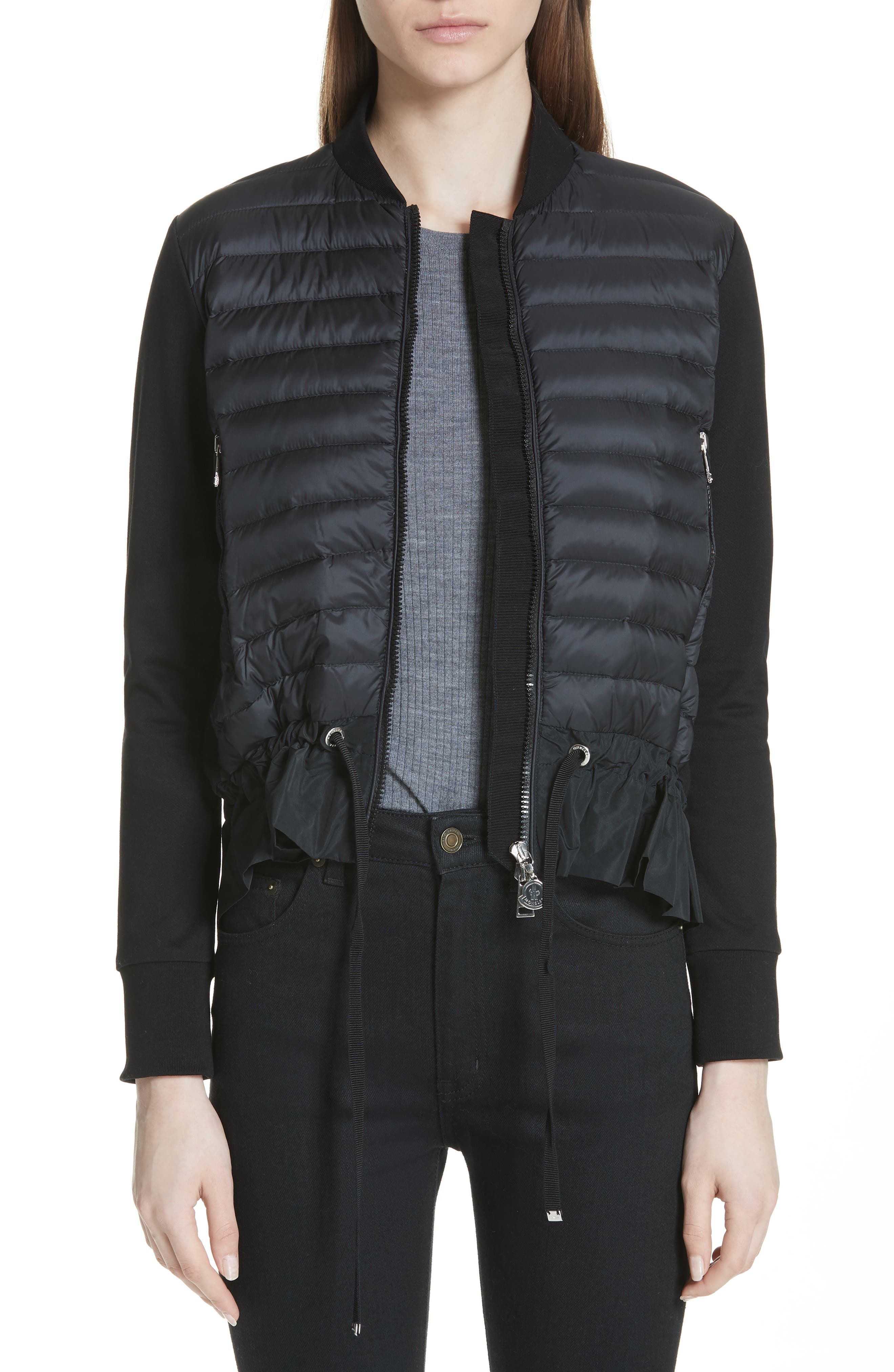 Alternate Image 1 Selected - Moncler Quilted Down & Cotton Bomber