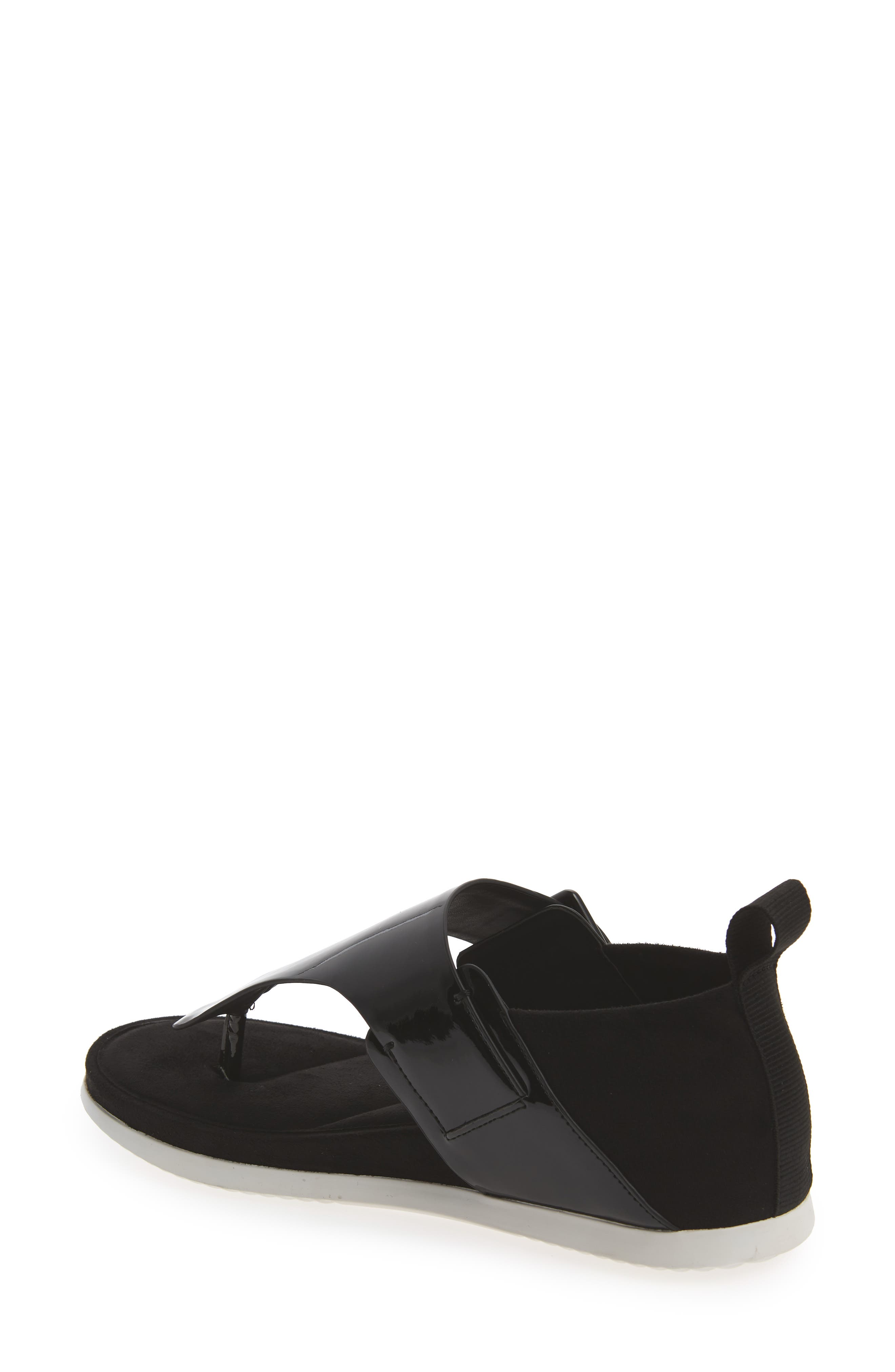 Dionay Wedge Sandal,                             Alternate thumbnail 2, color,                             Black Patent